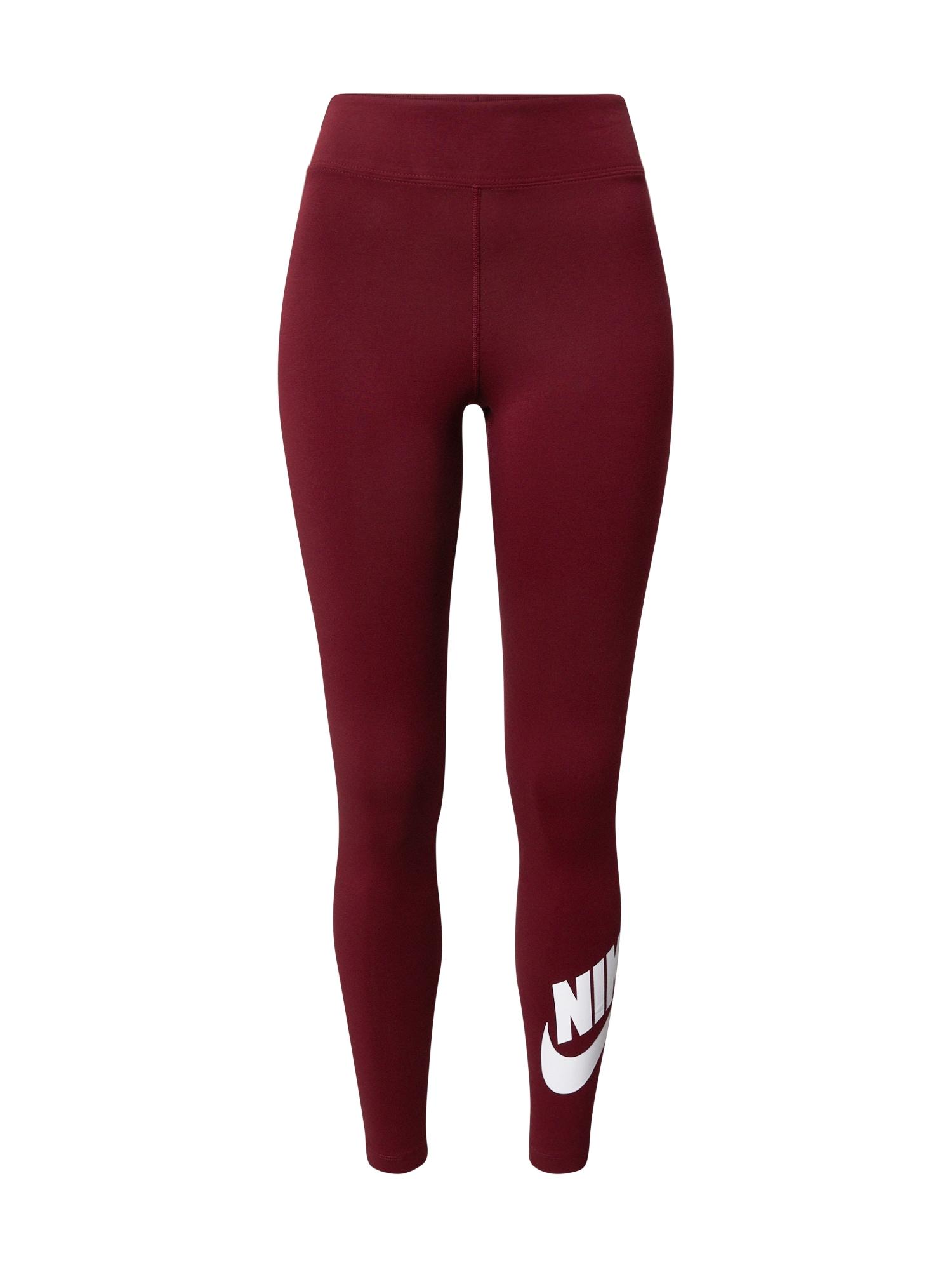 Nike Sportswear Sportovní kalhoty  vínově červená / bílá