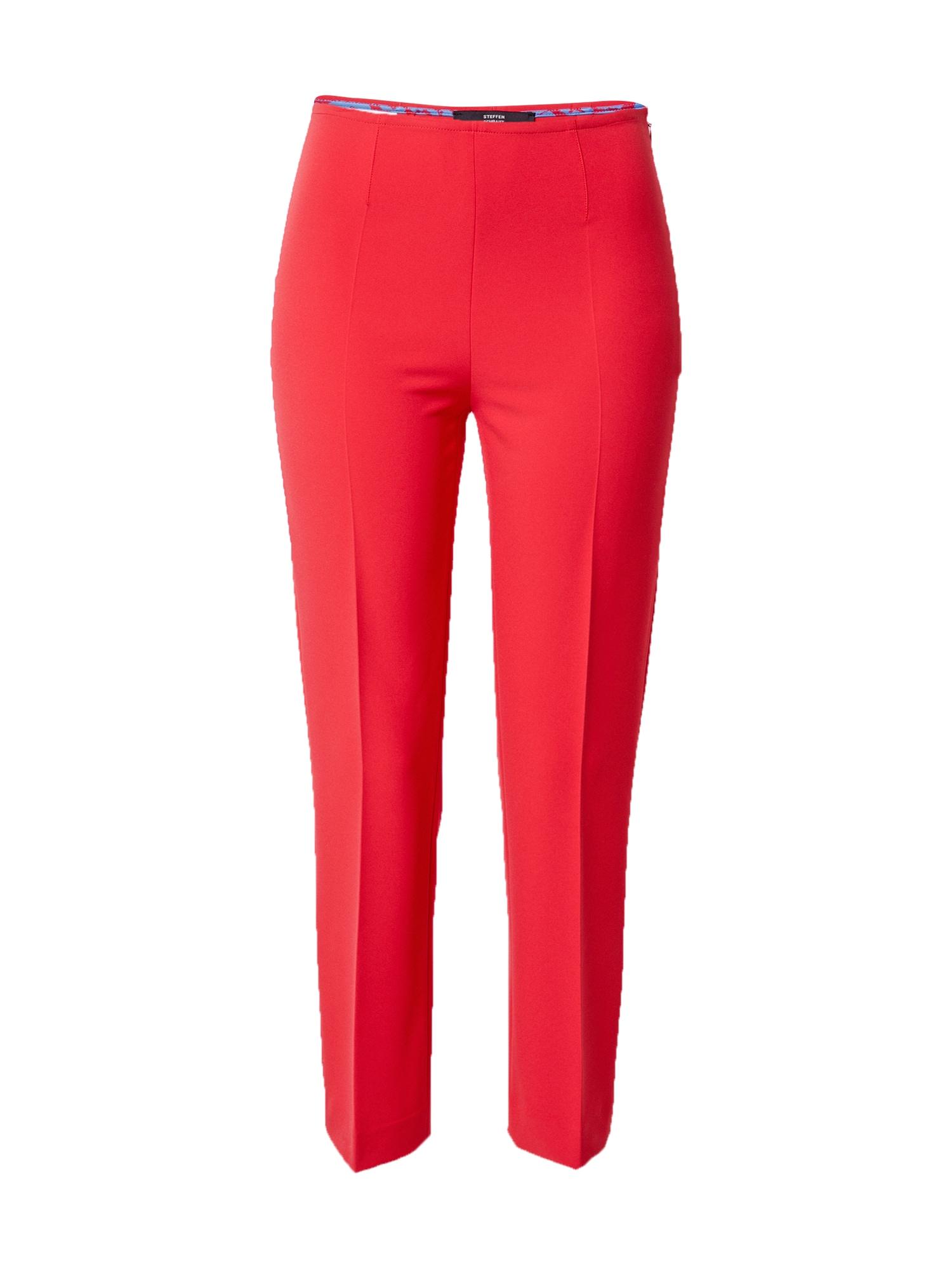 STEFFEN SCHRAUT Kelnės su kantu raudona