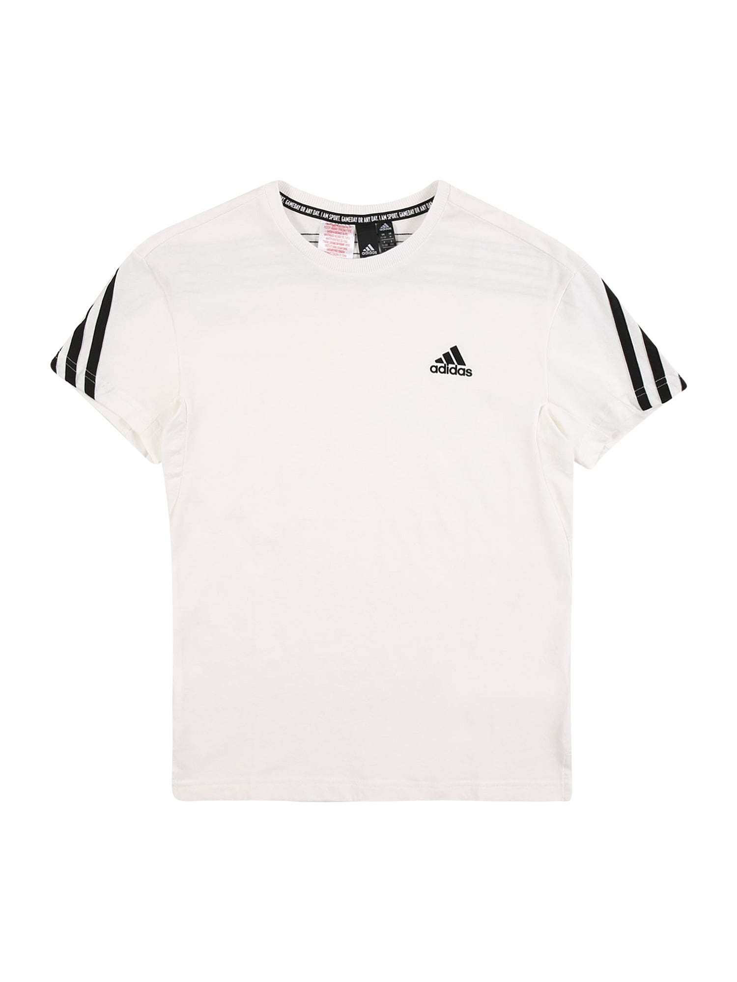 ADIDAS PERFORMANCE Marškinėliai juoda / natūrali balta