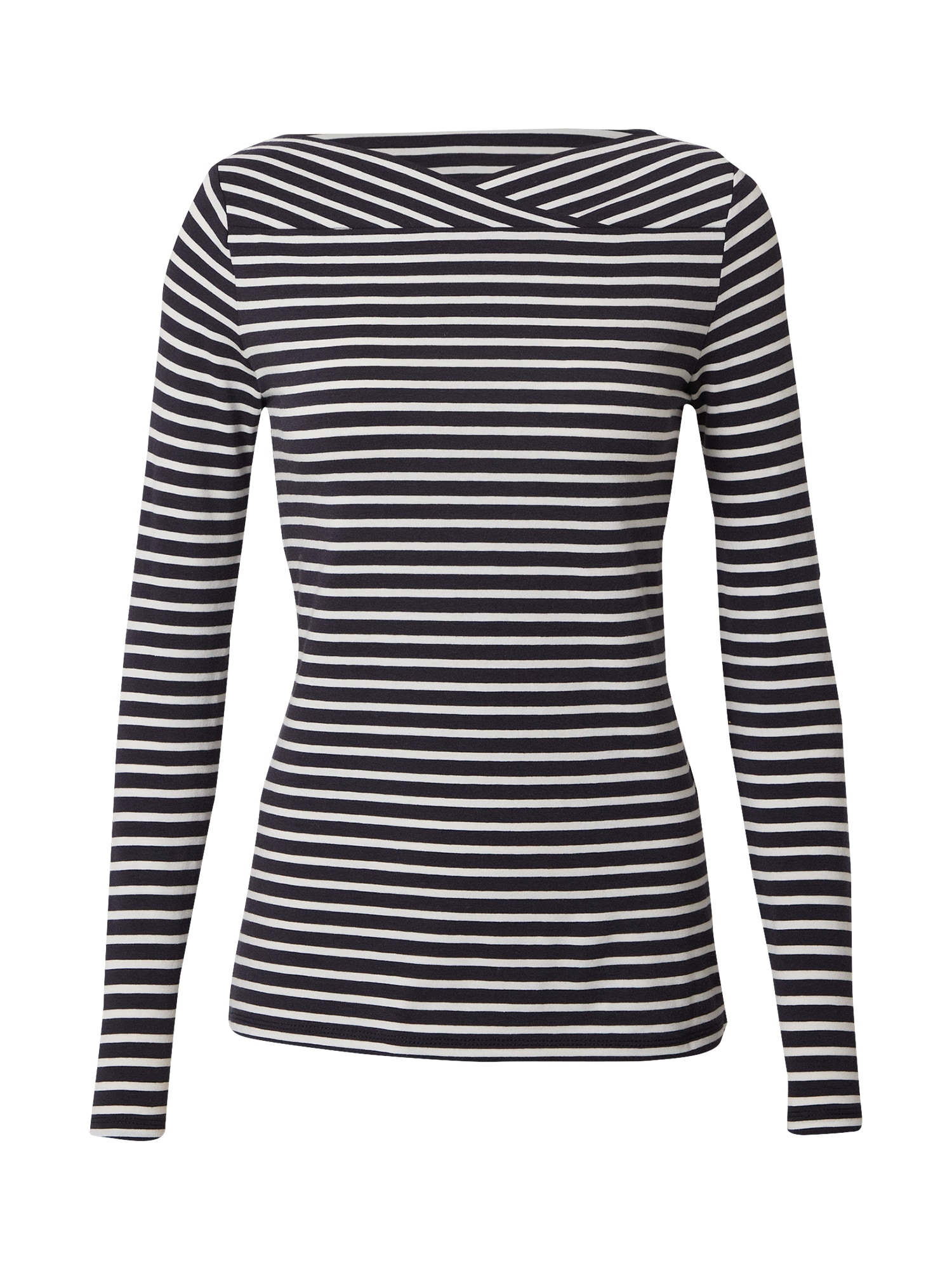 Esprit Collection Marškinėliai tamsiai mėlyna / balta