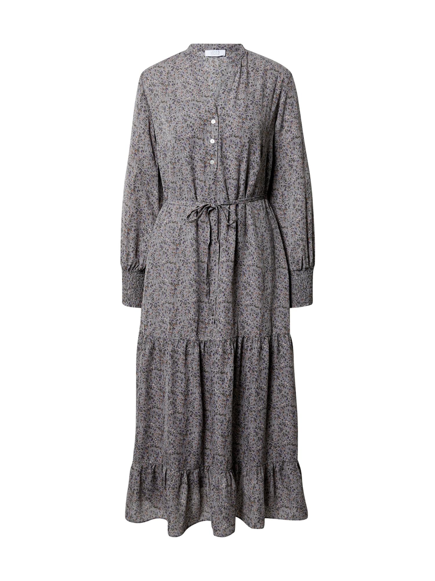 Love & Divine Suknelė pilka / mišrios spalvos