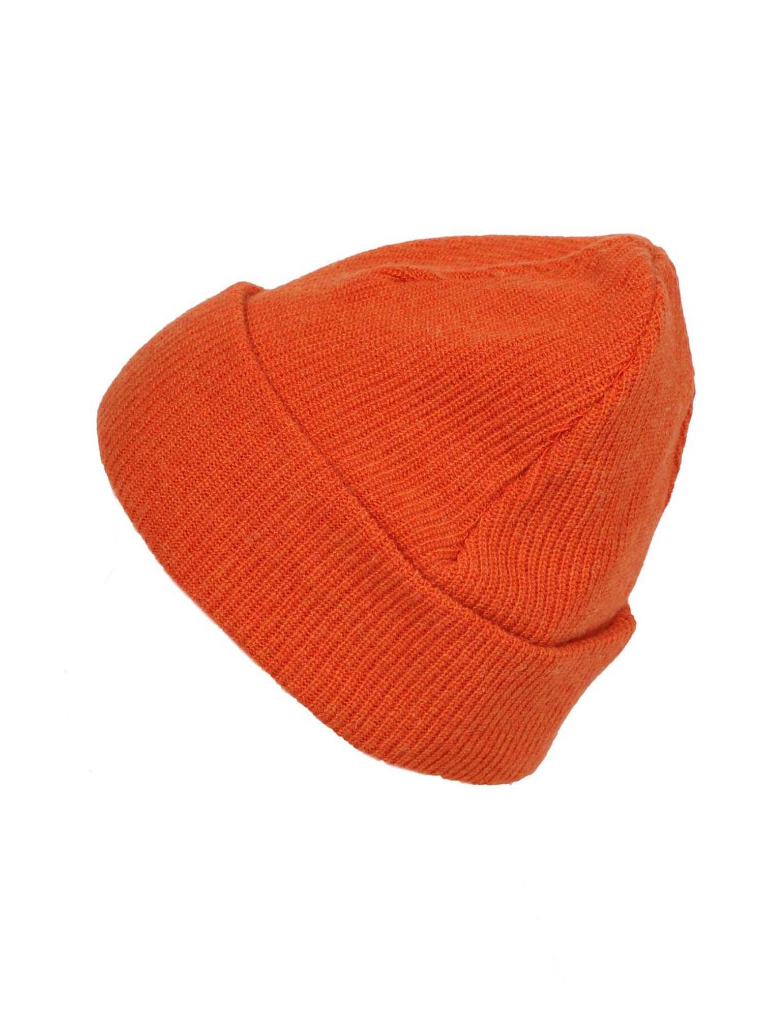 Zwillingsherz Megzta kepurė tamsiai oranžinė