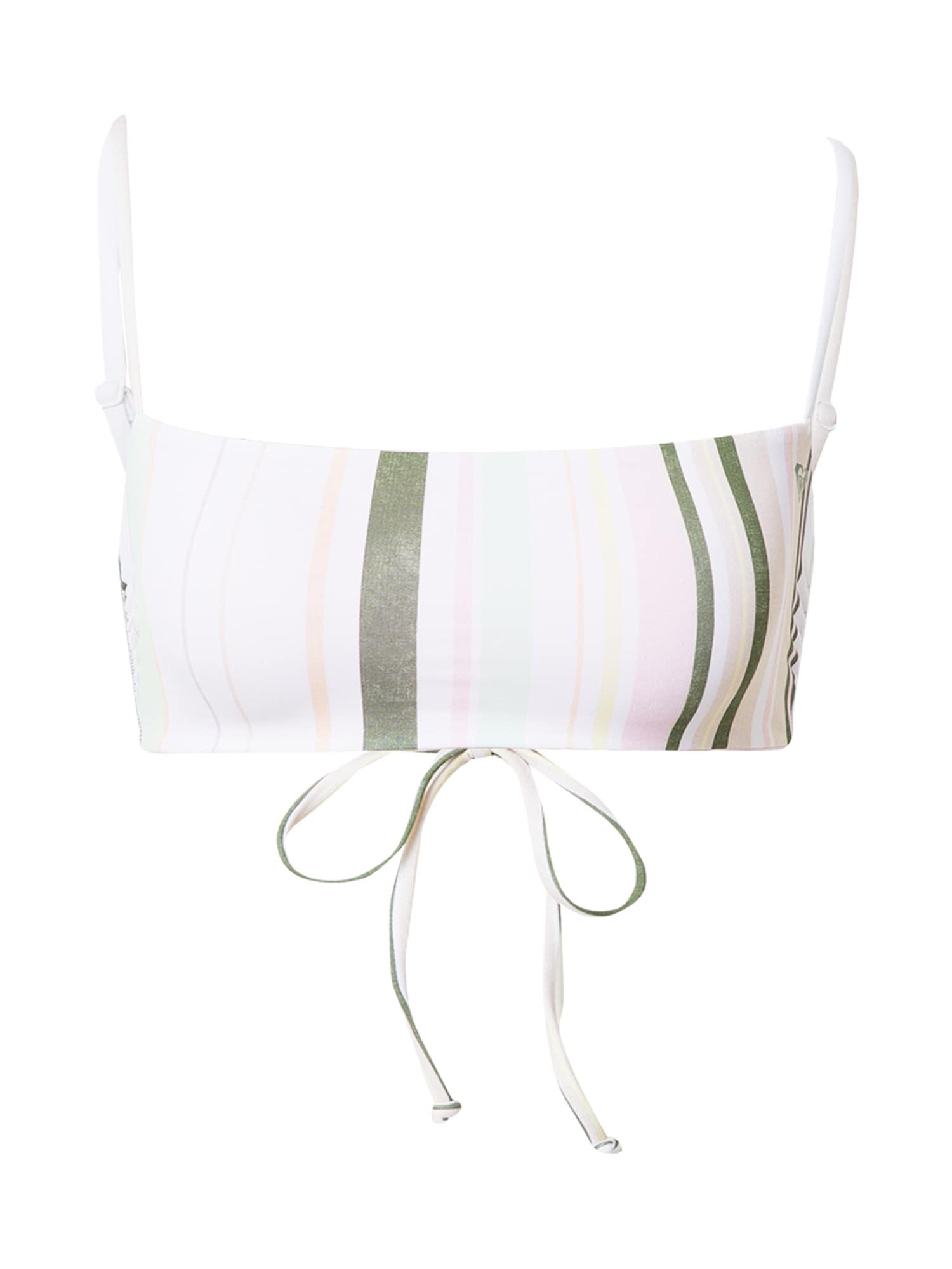 ROXY Horní díl plavek 'SEA & WAVES REVO'  bílá / khaki / pastelově růžová / pastelově žlutá / mátová