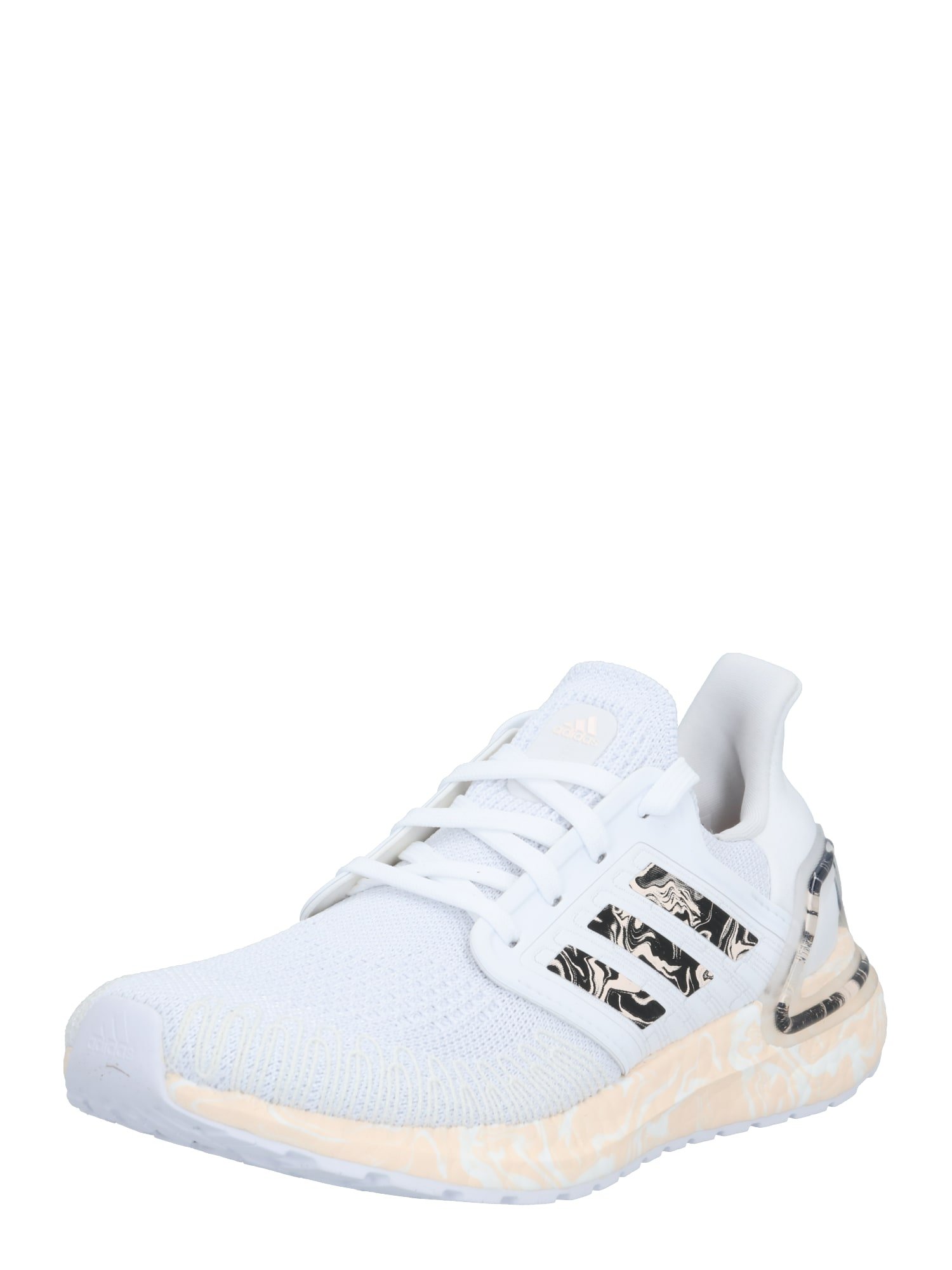 ADIDAS PERFORMANCE Bėgimo batai balta / šviesiai oranžinė / juoda