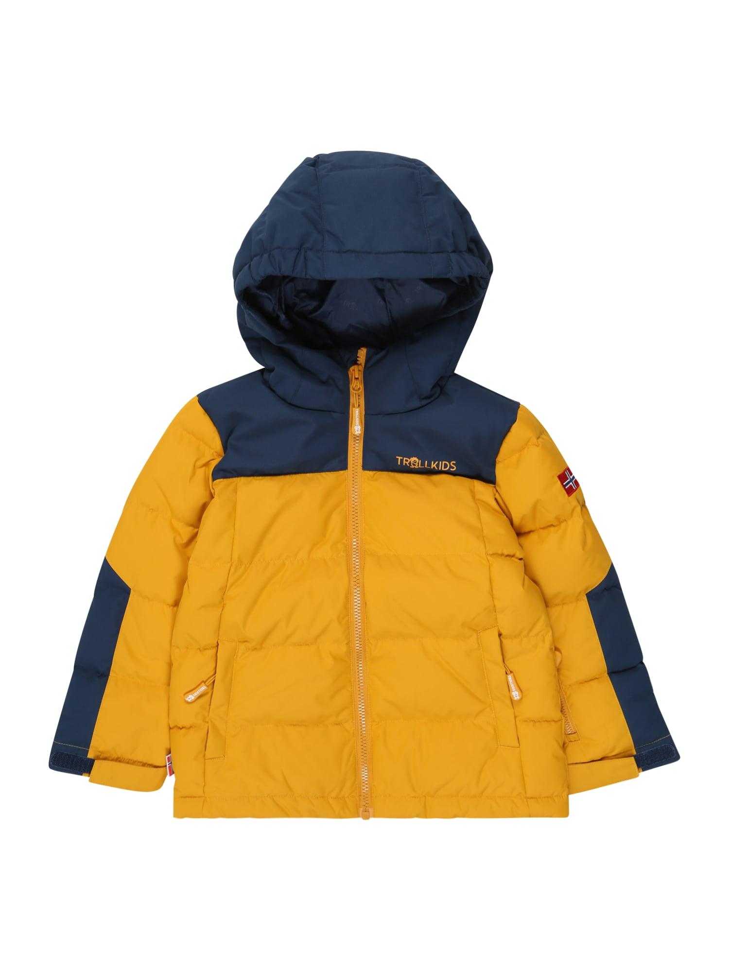 TROLLKIDS Zimní bunda 'Narvik'  zlatě žlutá / námořnická modř