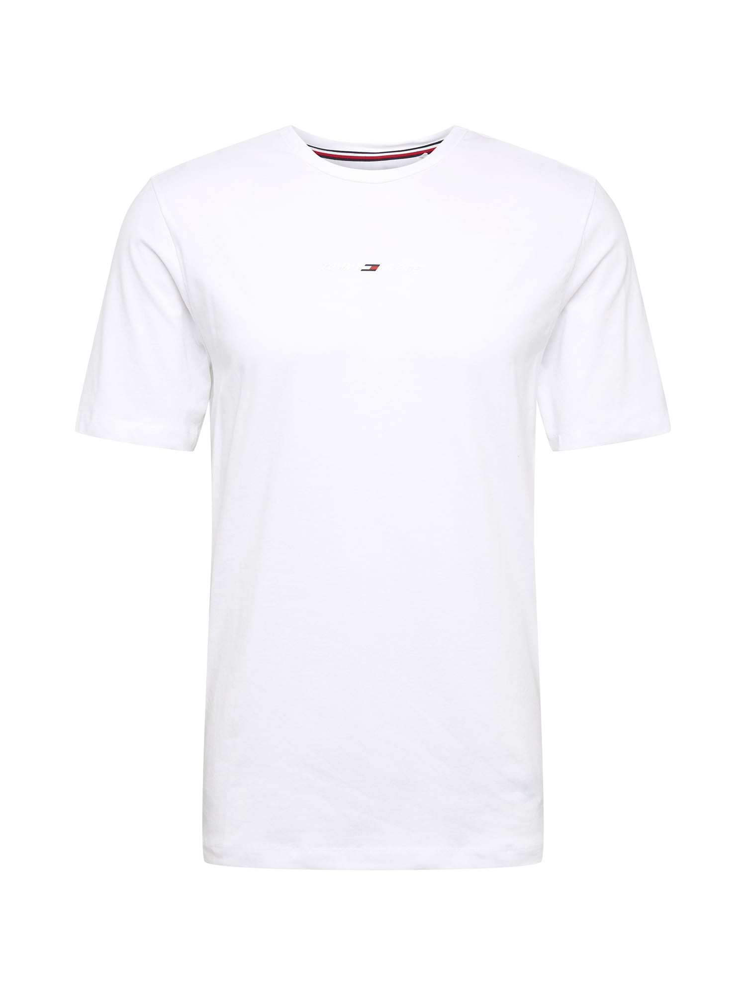 Tommy Sport Sportiniai marškinėliai balta / tamsiai mėlyna / raudona