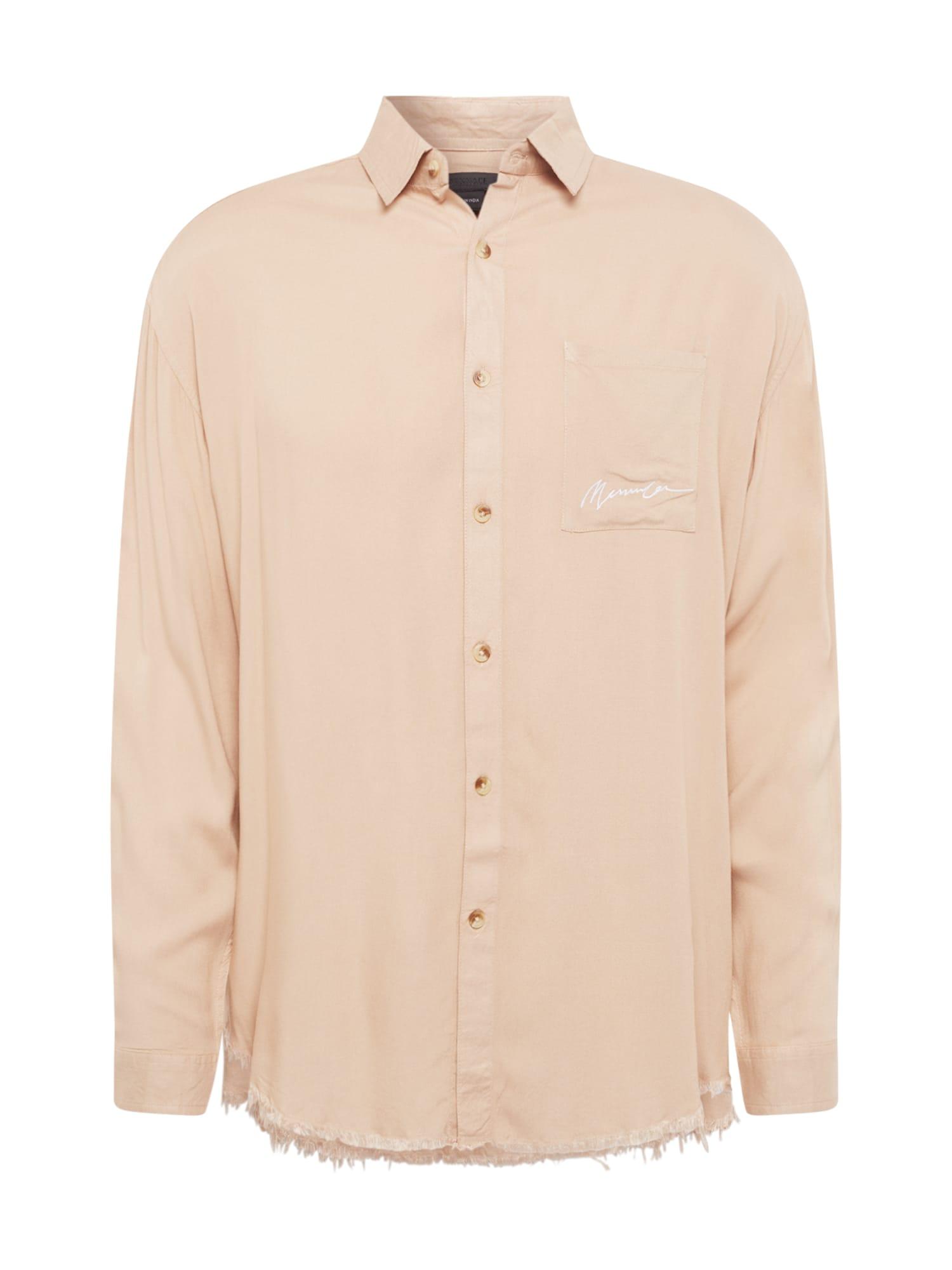 Mennace Marškiniai kapučino spalva / balta
