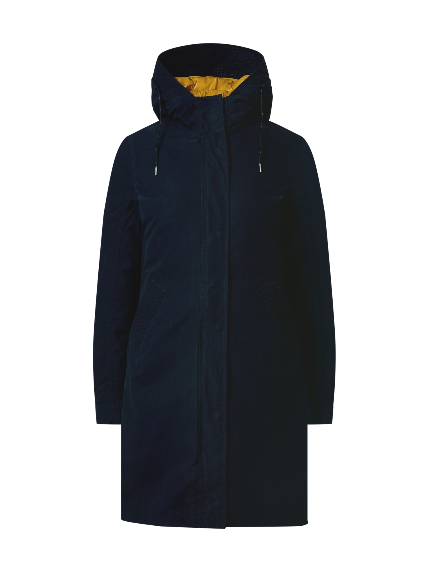 Q/S designed by Demisezoninis paltas tamsiai mėlyna / geltona