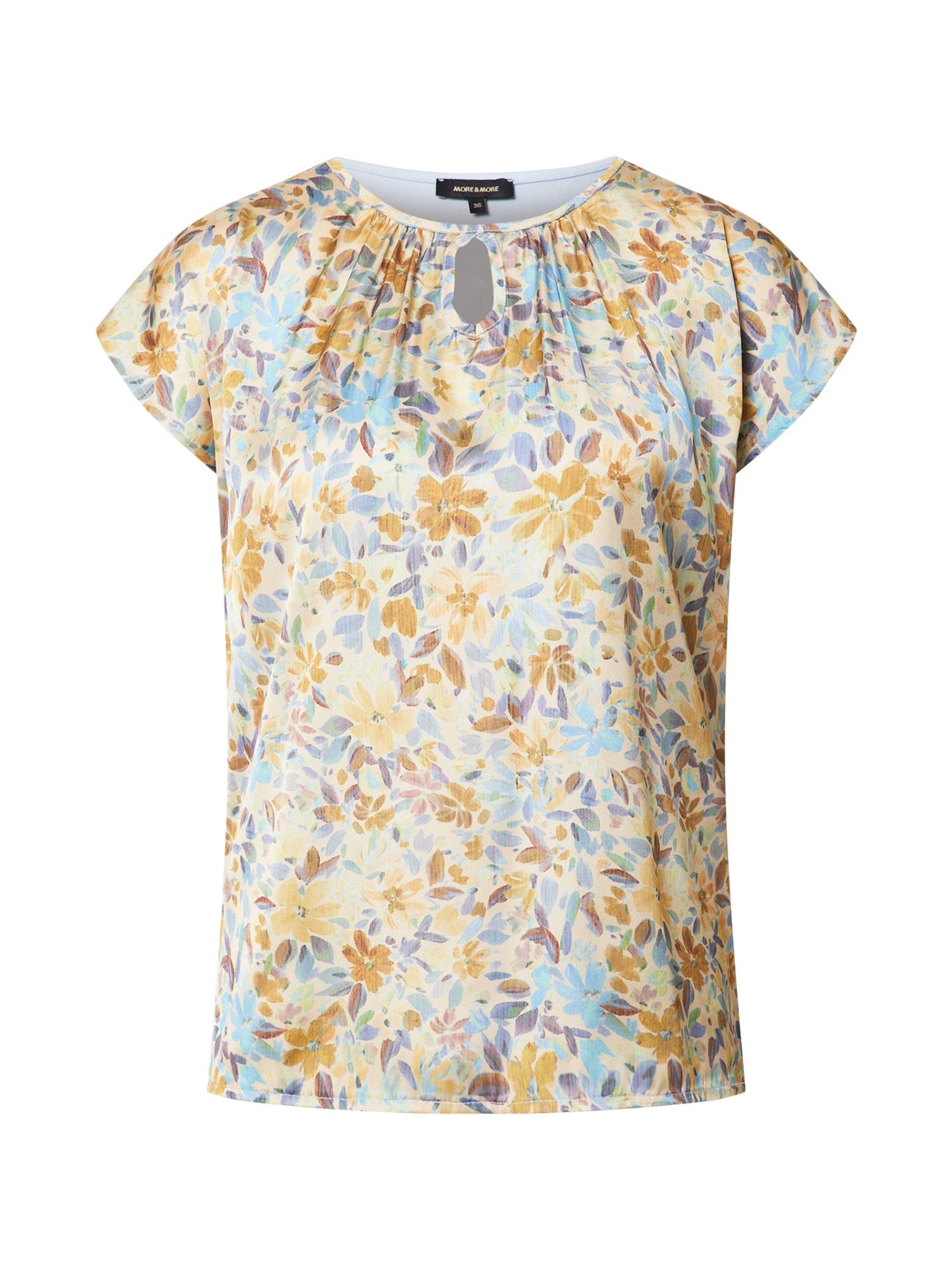 MORE & MORE Marškinėliai balta / smėlio spalva / šviesiai violetinė / medaus spalva / šviesiai mėlyna
