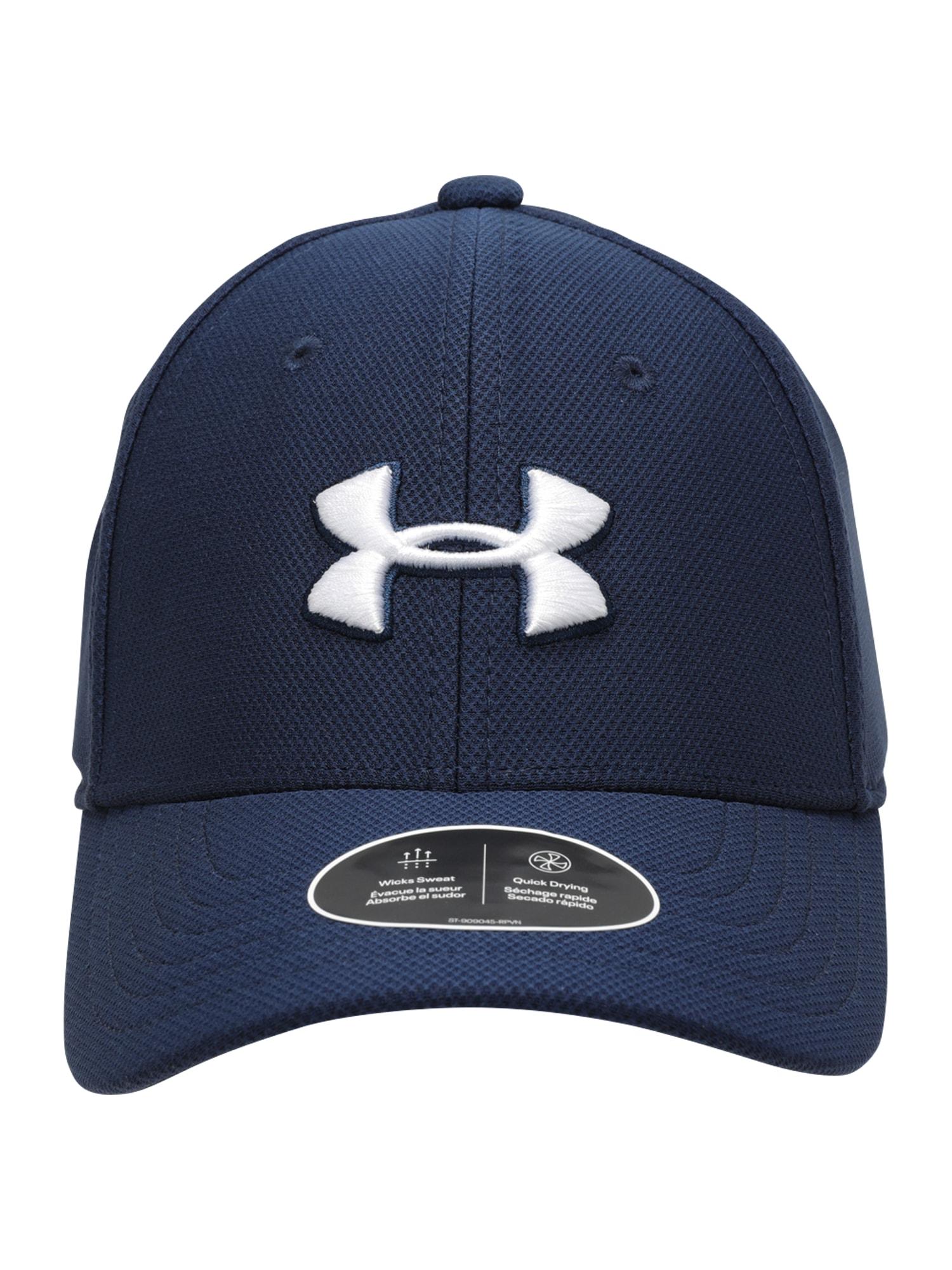 UNDER ARMOUR Sportinė kepurė 'Blitzing 3.0' tamsiai mėlyna / balta / juoda