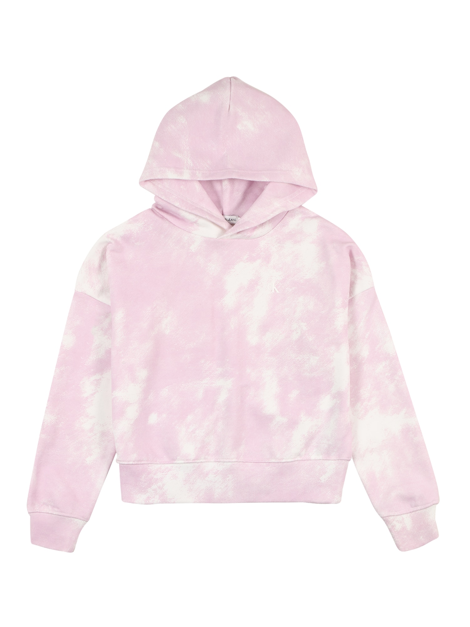 Calvin Klein Jeans Megztinis be užsegimo ryškiai rožinė spalva / balta