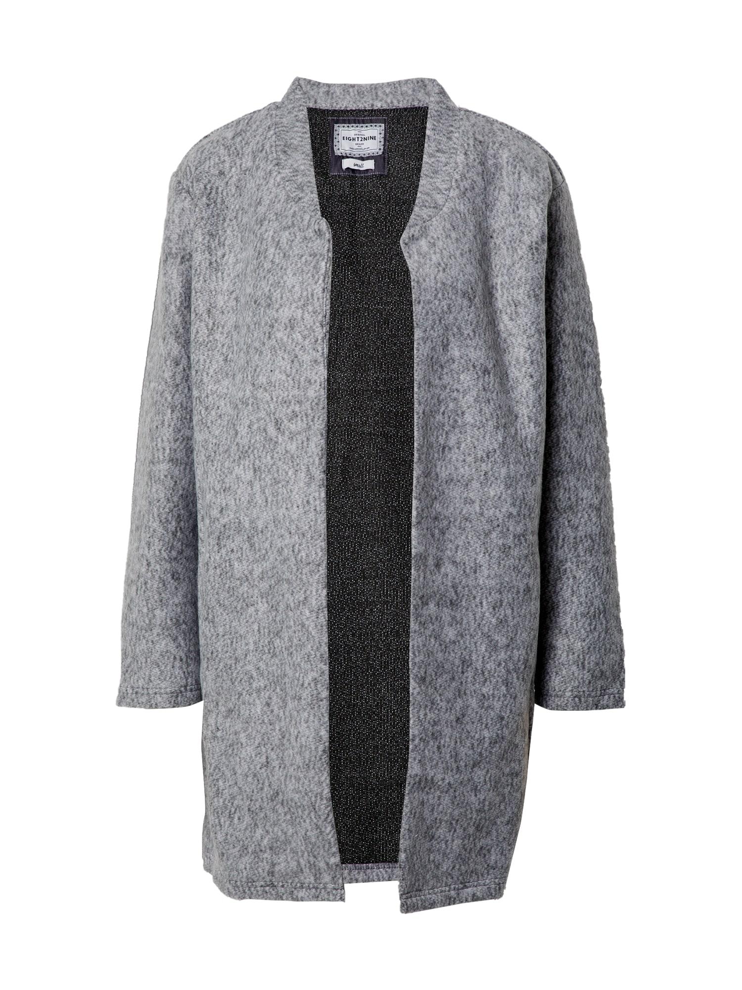 Eight2Nine Demisezoninis paltas margai pilka