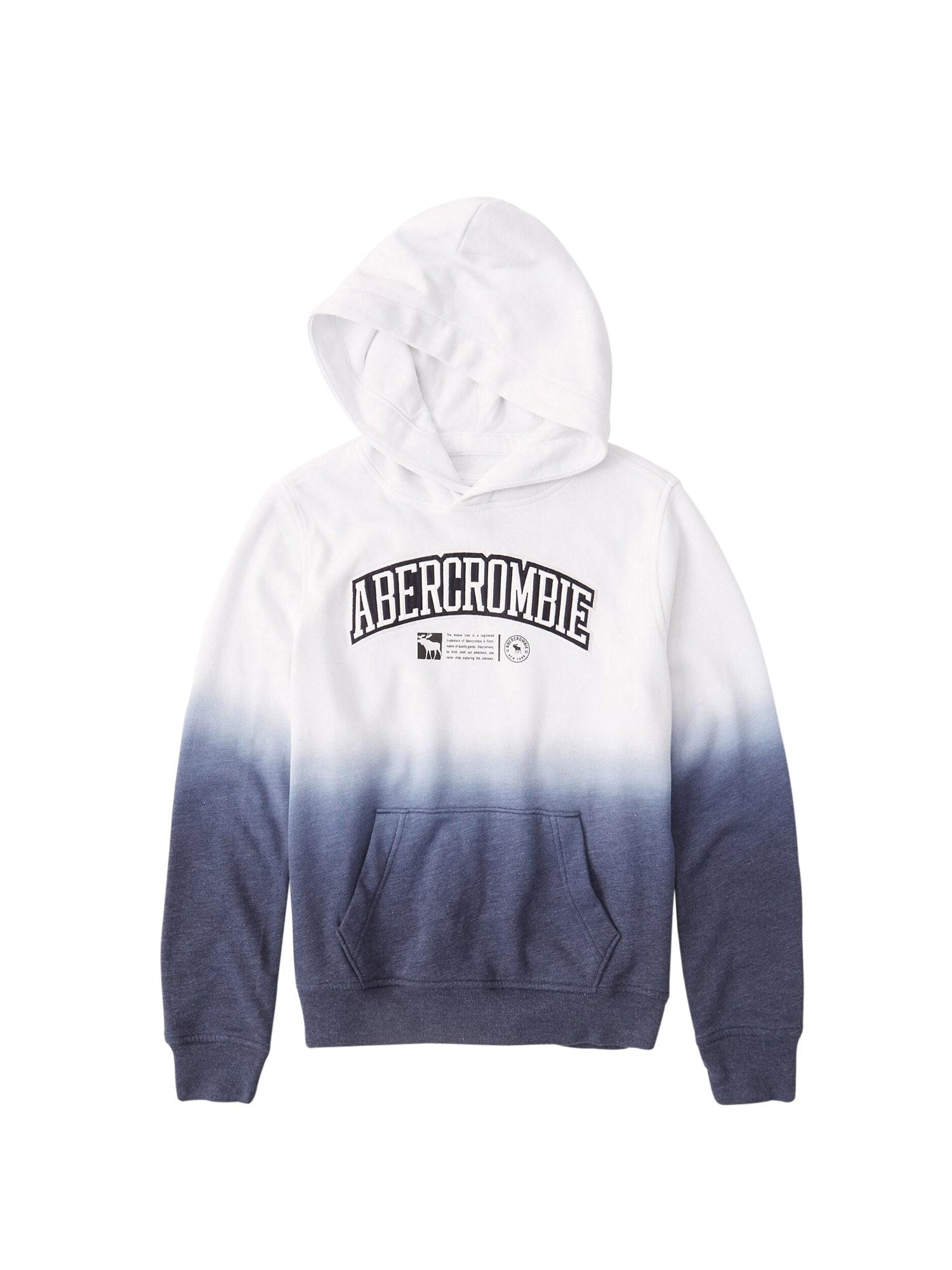 Abercrombie & Fitch Megztinis be užsegimo tamsiai mėlyna / balta
