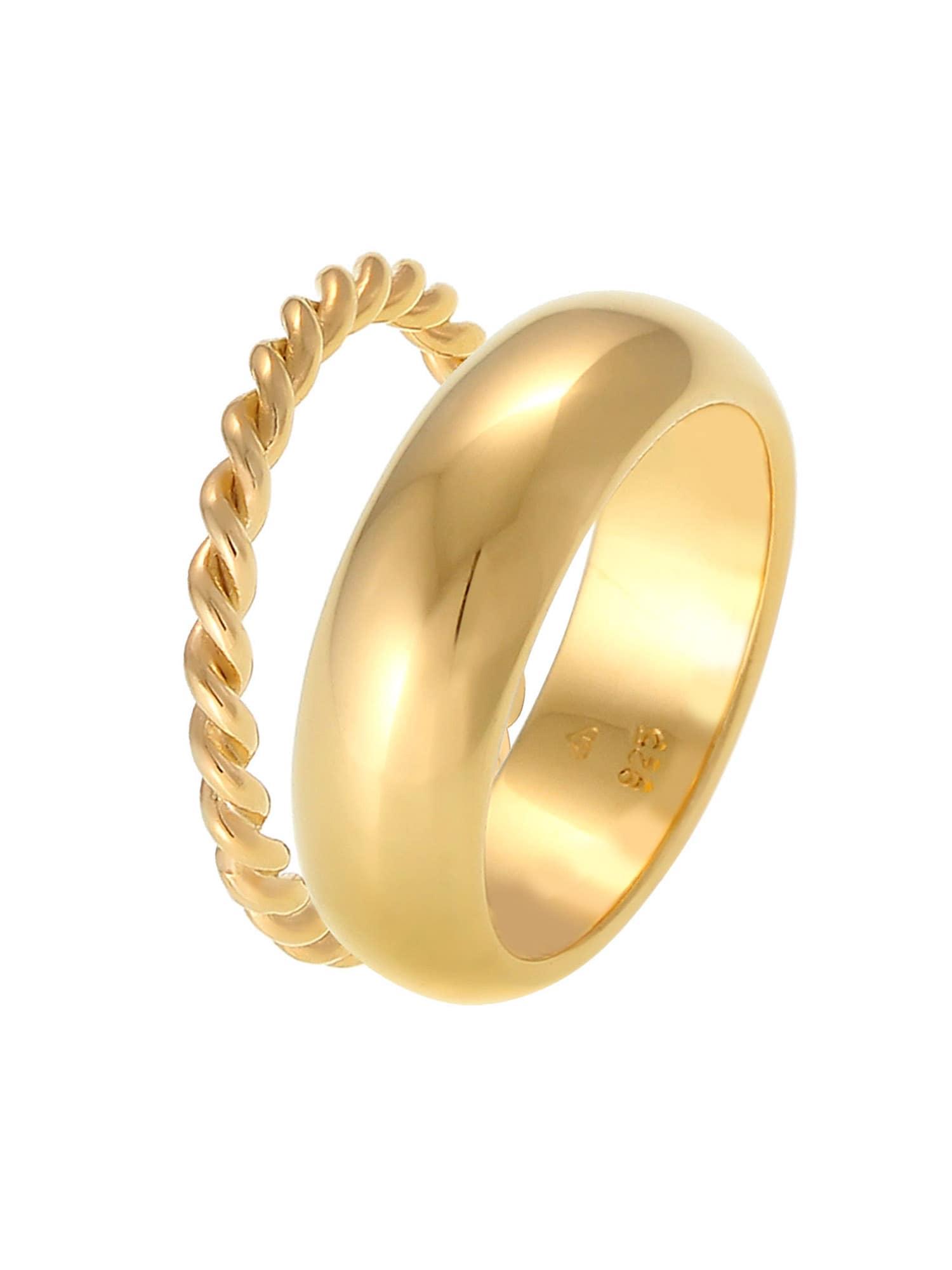 ELLI PREMIUM Žiedas aukso geltonumo spalva