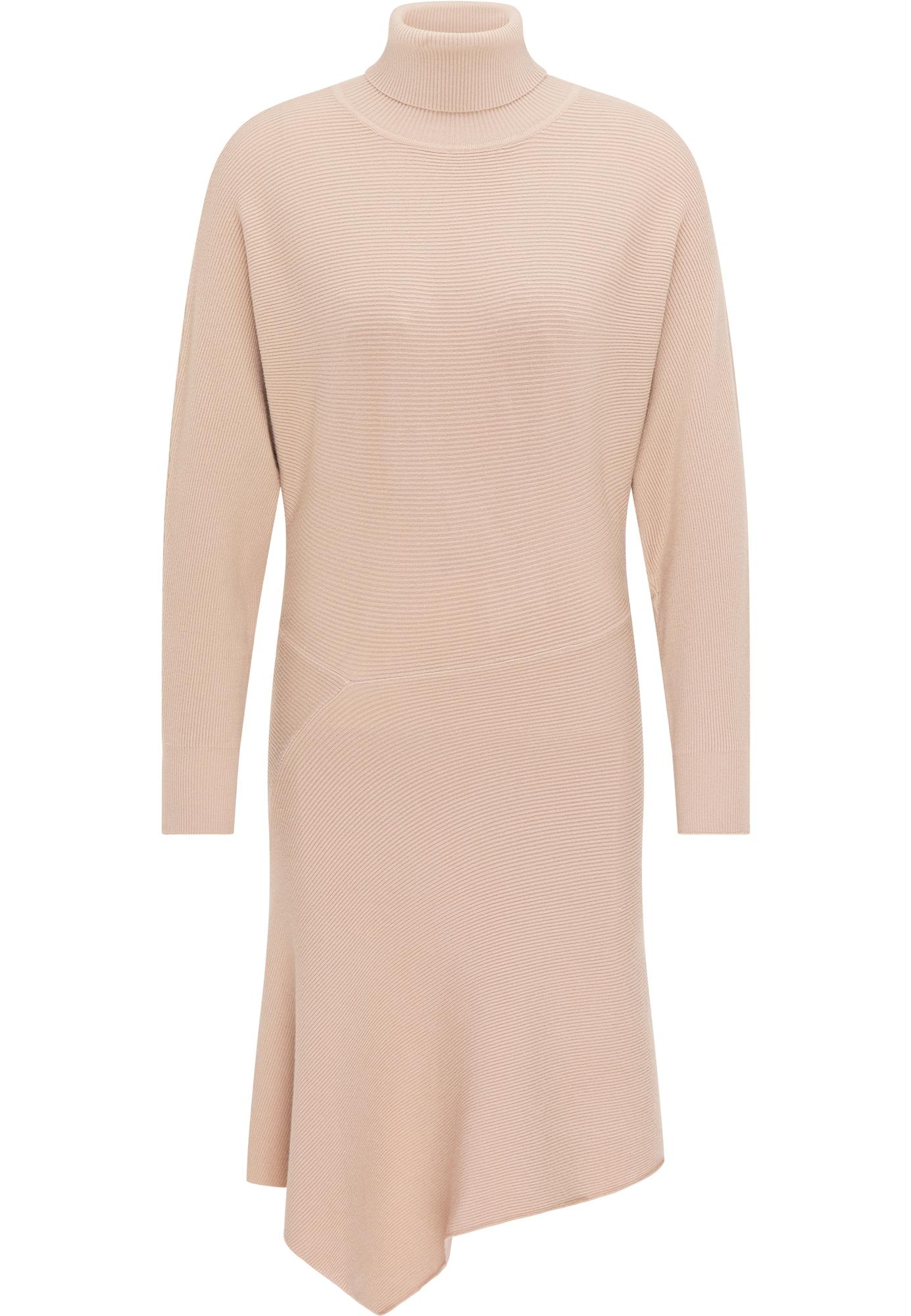 usha WHITE LABEL Megzta suknelė smėlio
