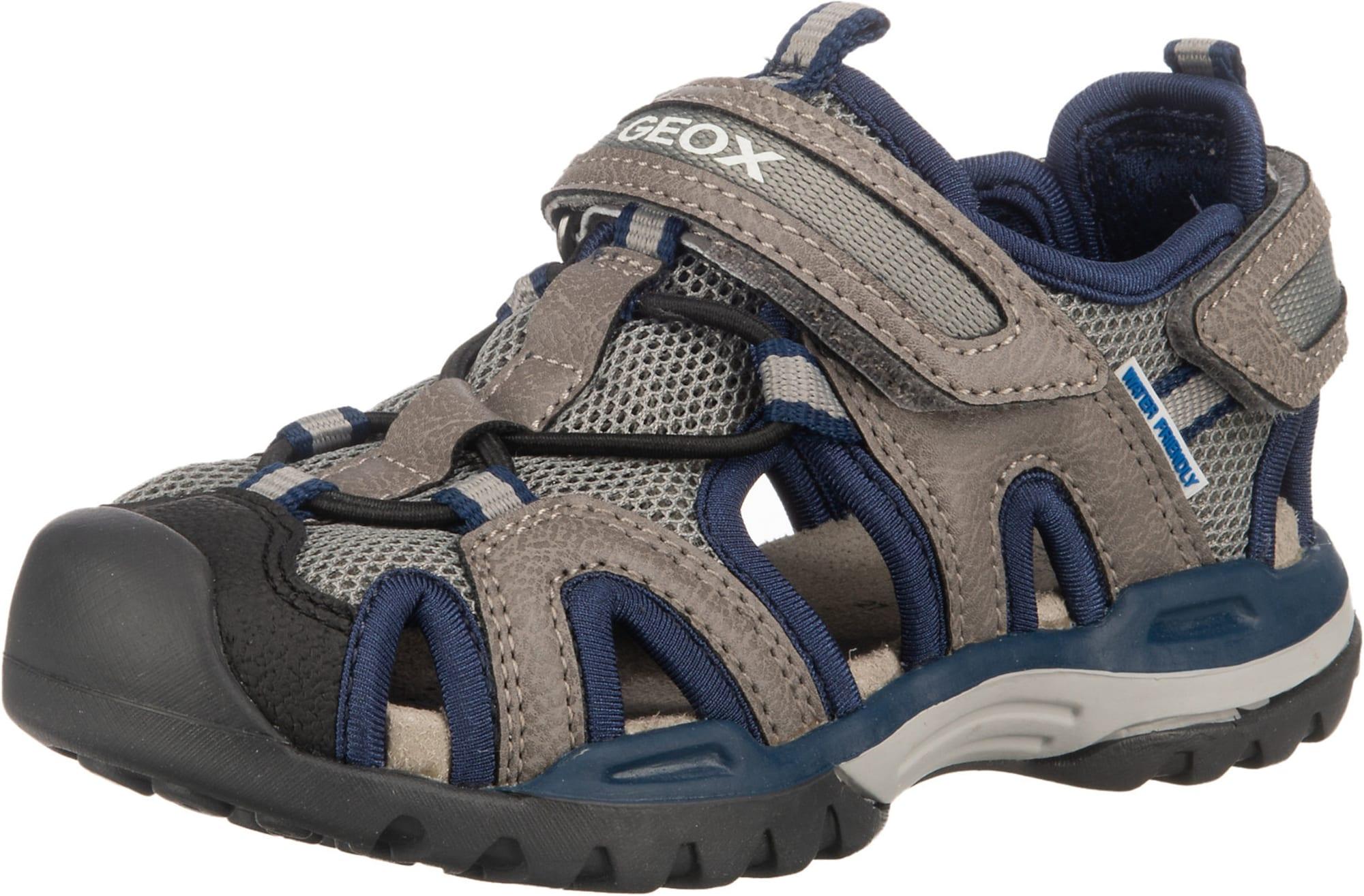 GEOX Atviri batai pilka / tamsiai mėlyna