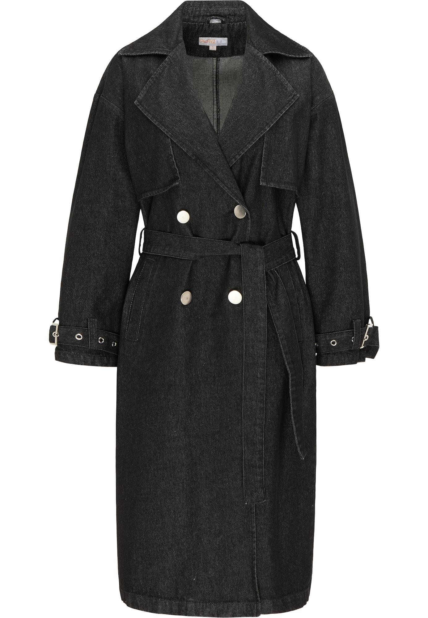 myMo NOW Demisezoninis paltas juodo džinso spalva