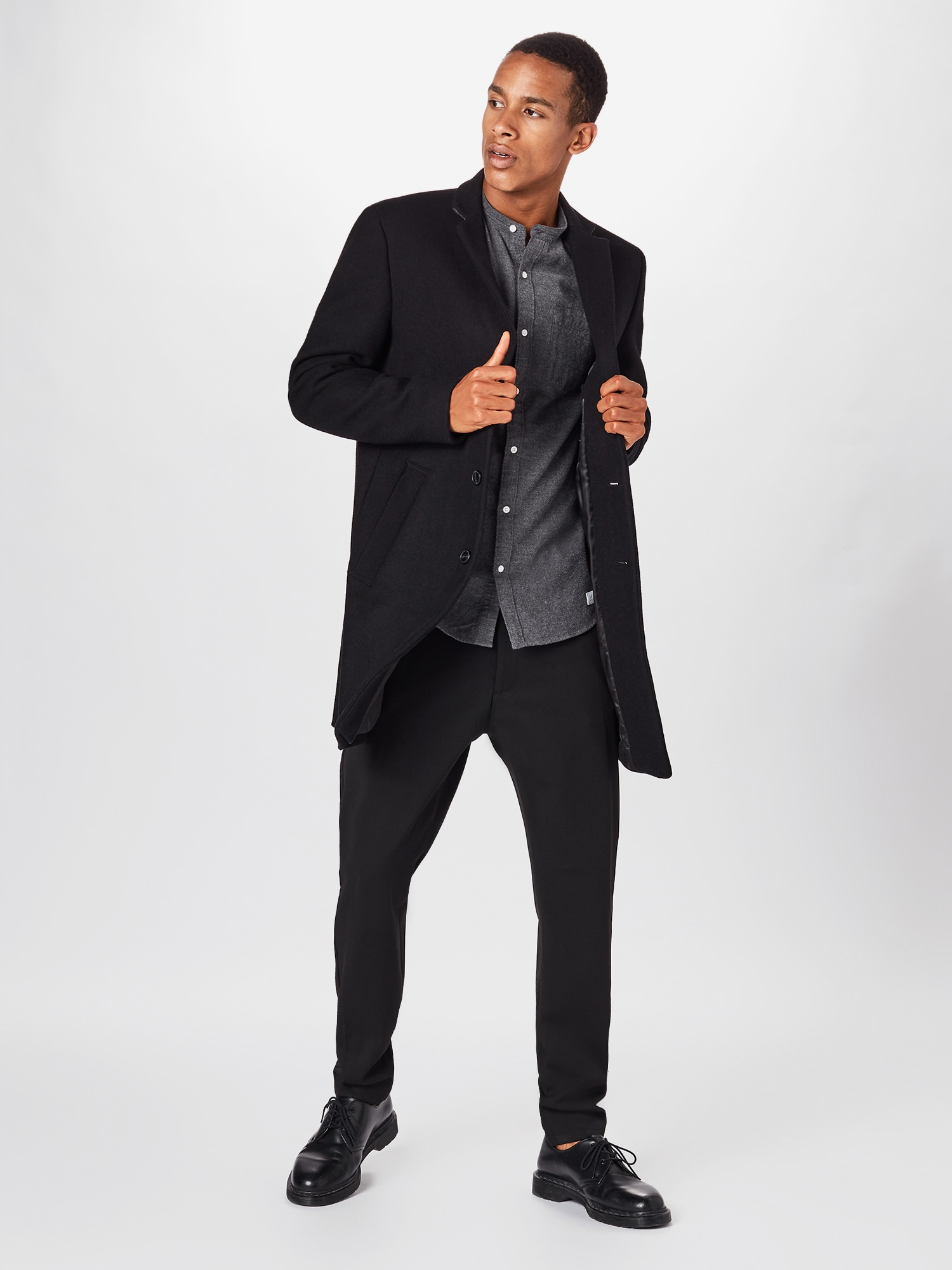 elvine Chino nohavice 'Crimson'  čierna.