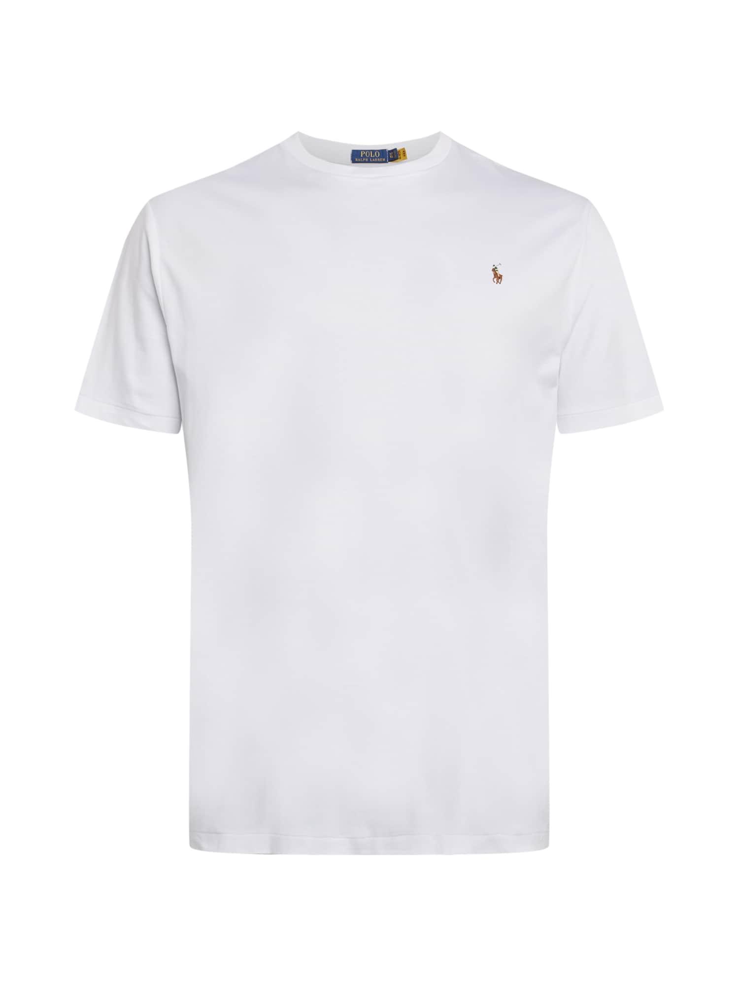 Polo Ralph Lauren Big & Tall Marškinėliai balta / ruda / smėlio spalva / žalia