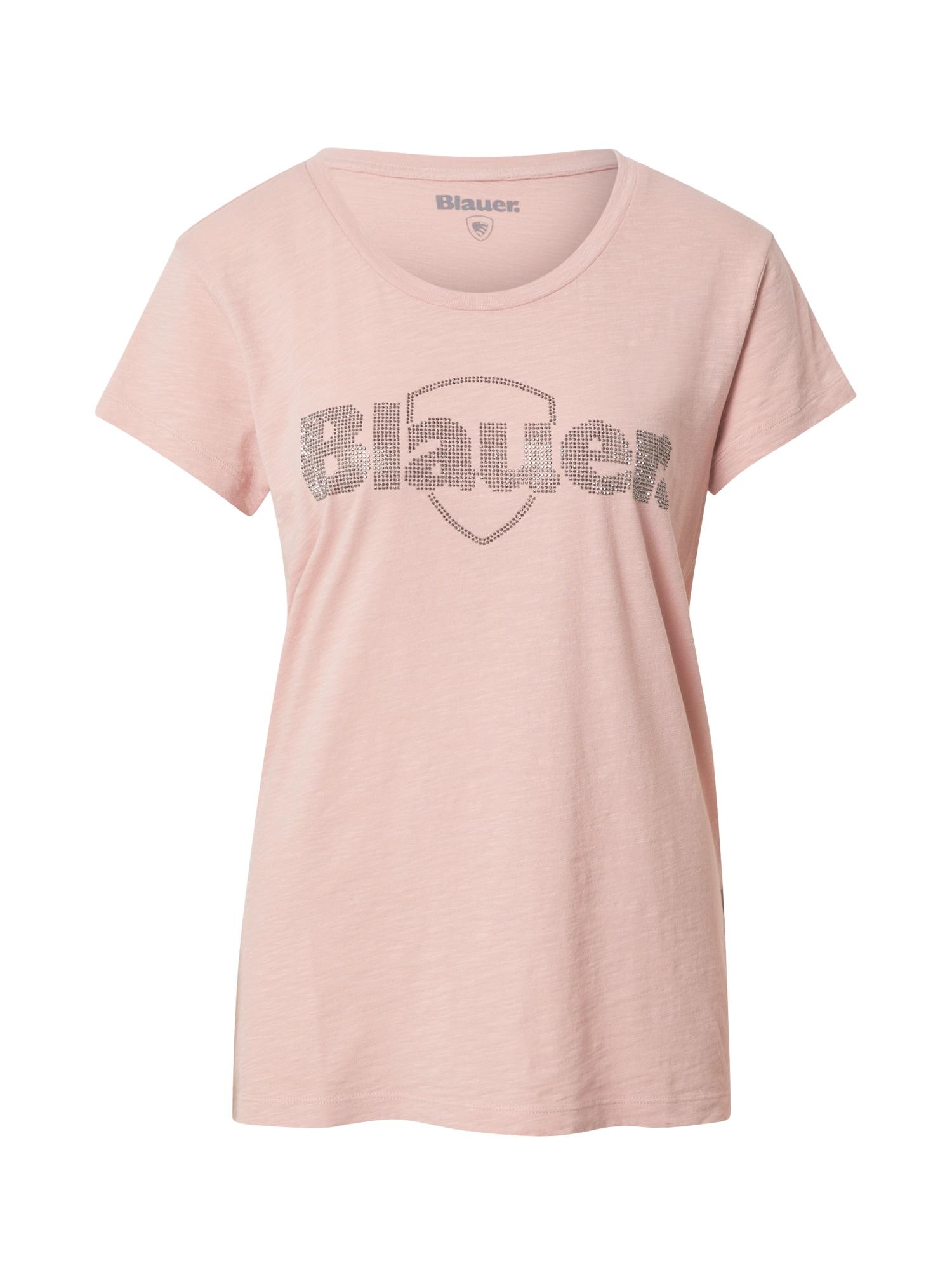 Blauer.USA Marškinėliai rožių spalva / sidabrinė