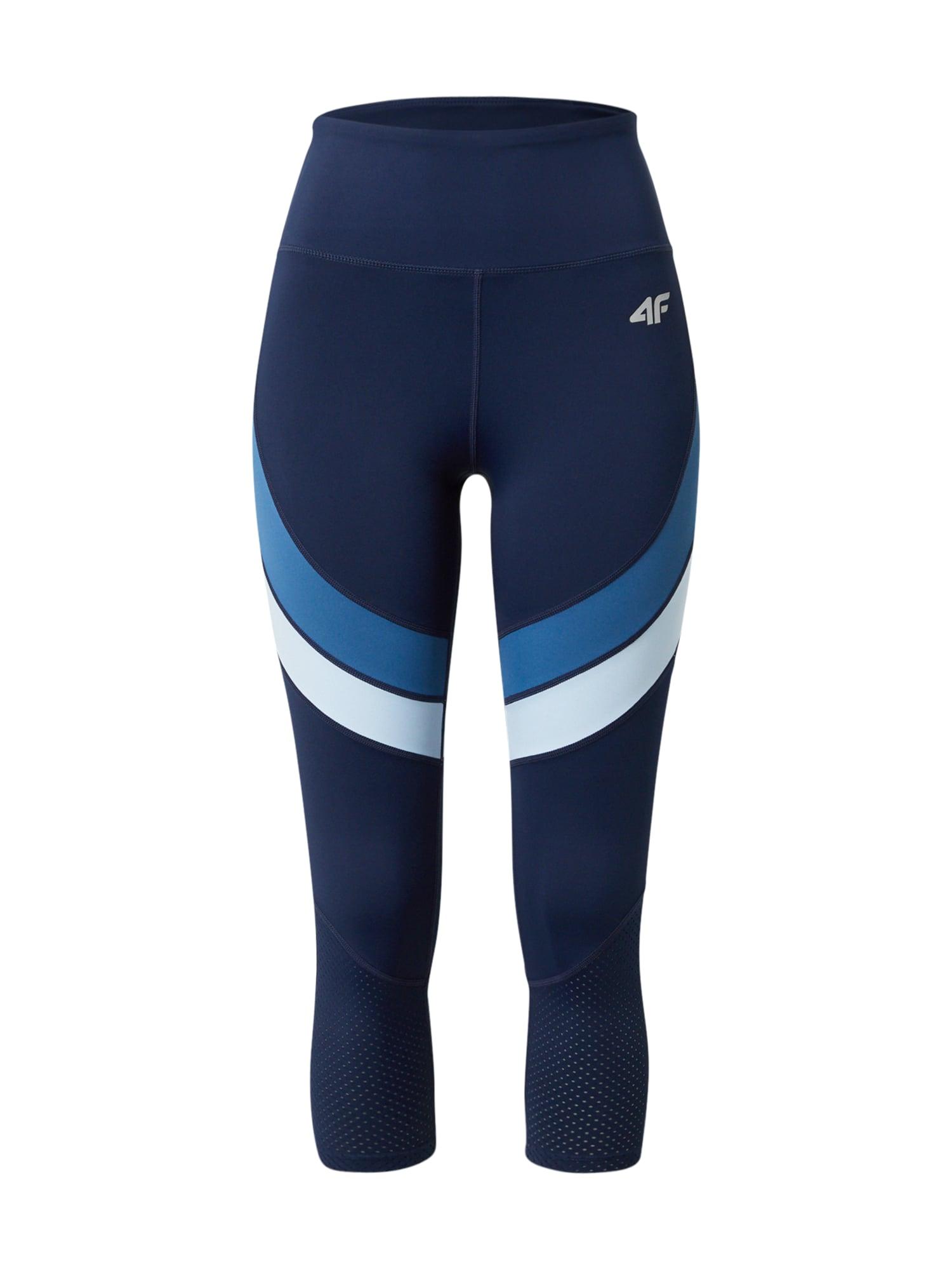 4F Sportinės kelnės tamsiai mėlyna / dangaus žydra / balta