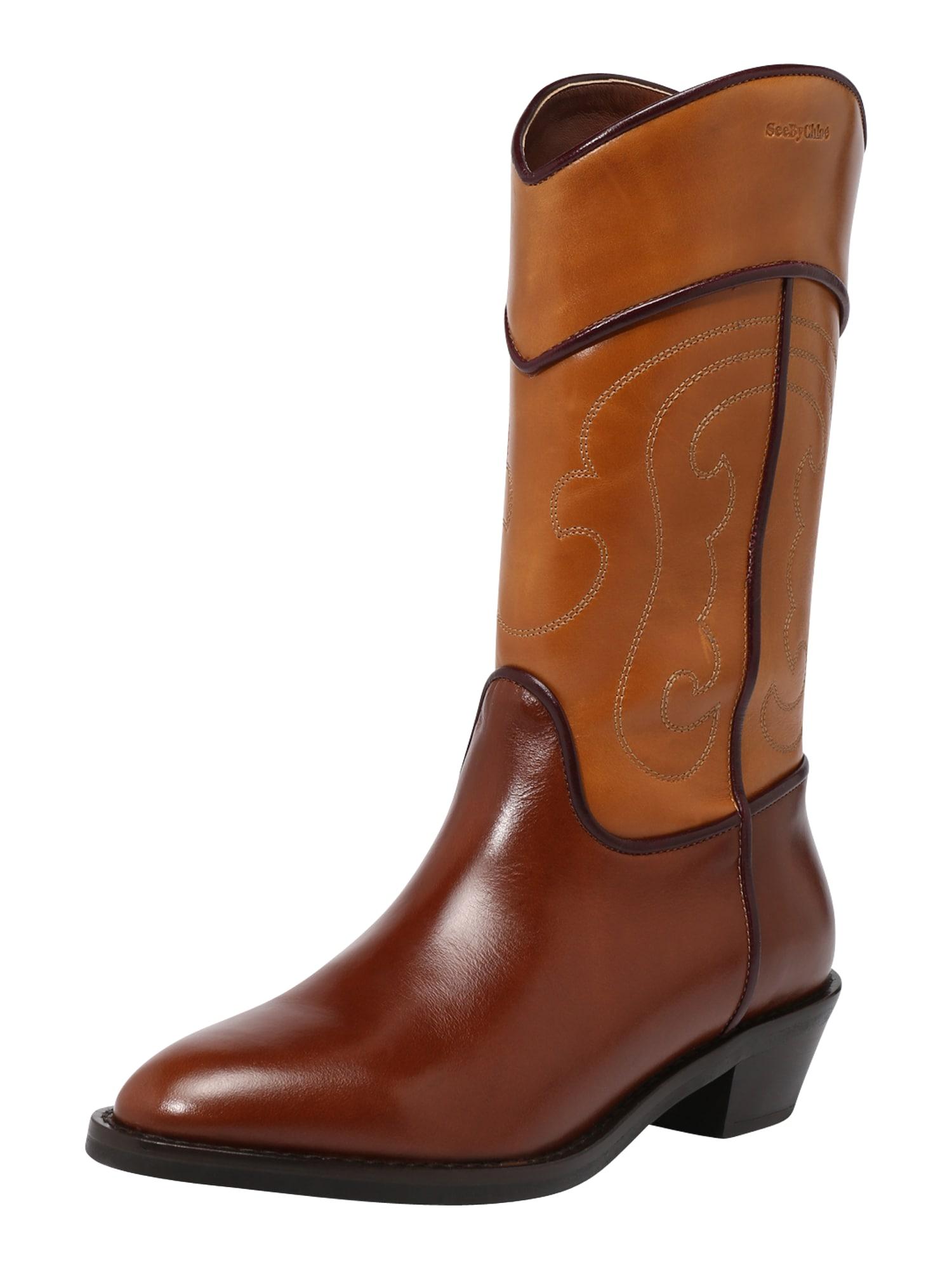 See by Chloé Kaubojiški batai