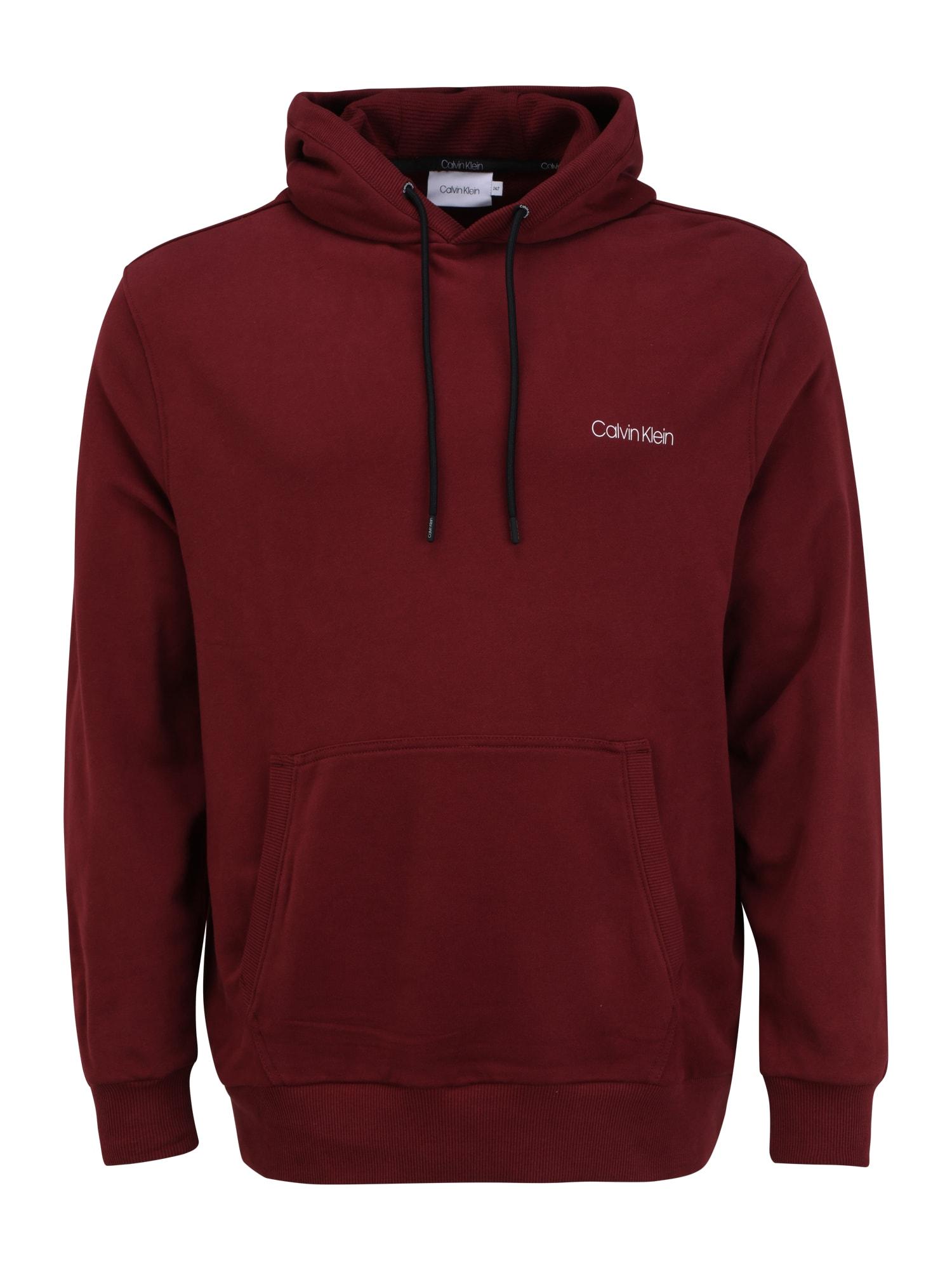 Calvin Klein Big & Tall Megztinis be užsegimo vyno raudona spalva