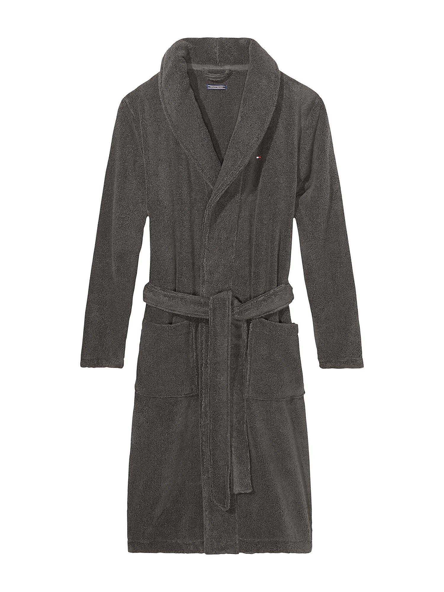 Tommy Hilfiger Underwear Ilgas vonios chalatas 'Icon bathrobe' pilka