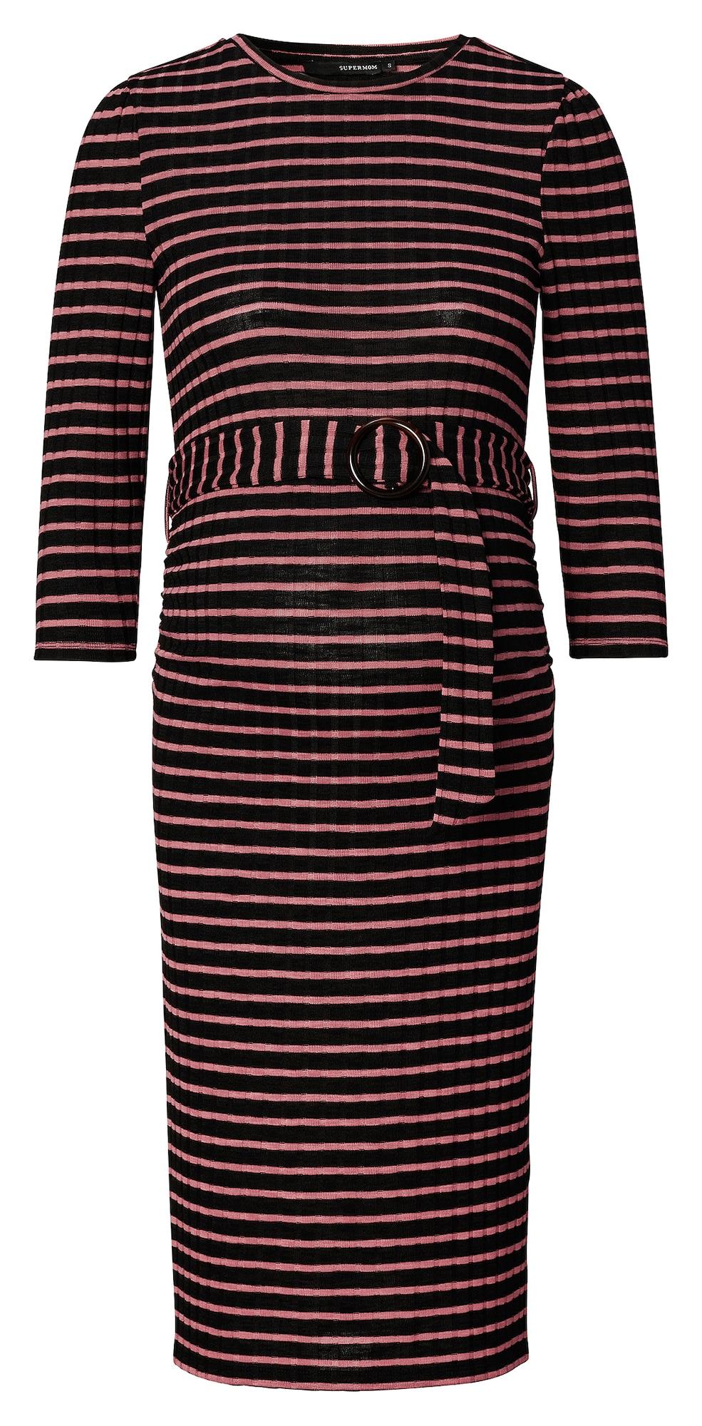 Supermom Suknelė rožinė / juoda