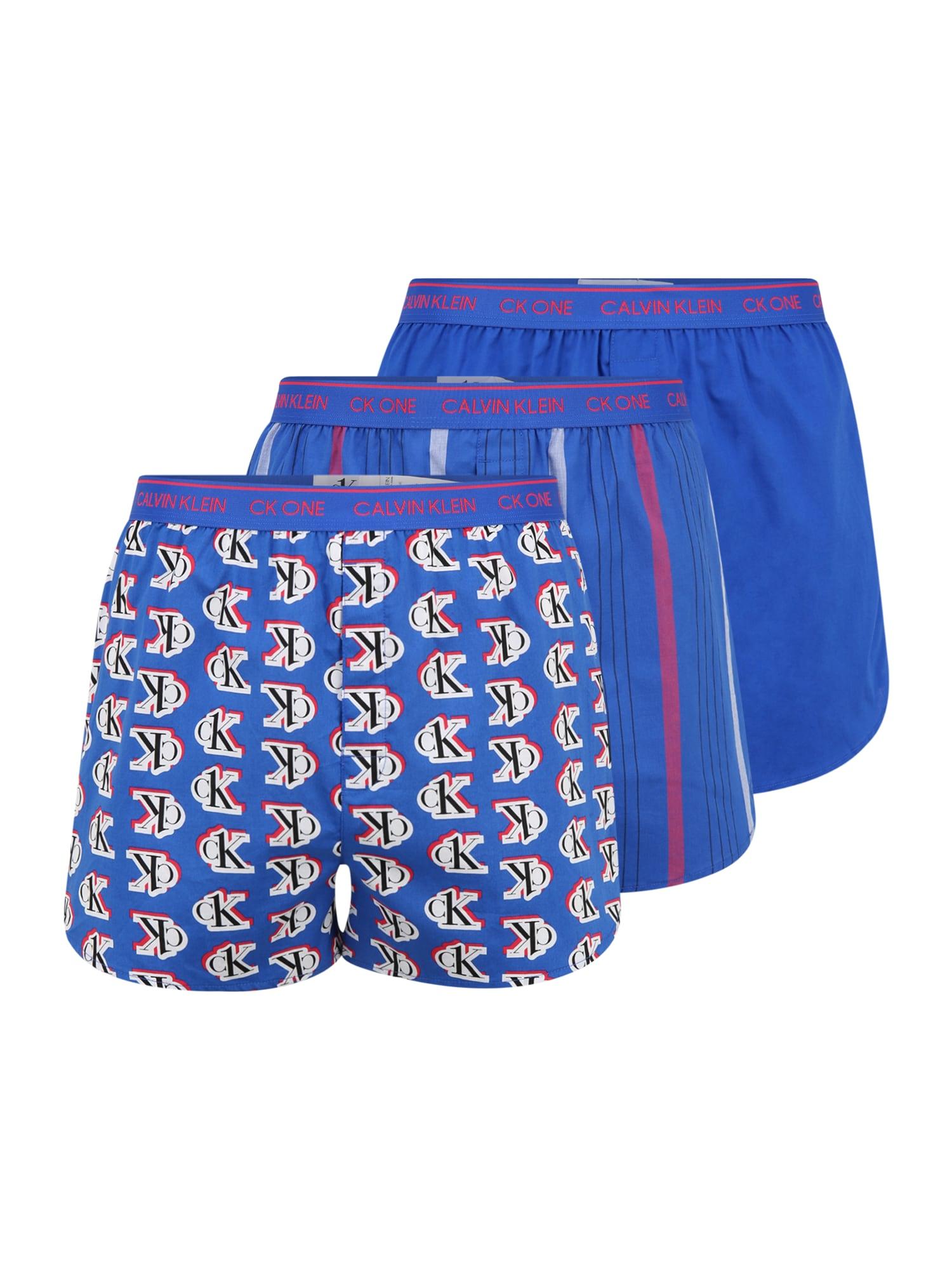 Calvin Klein Underwear Boxer trumpikės mėlyna / balta / juoda