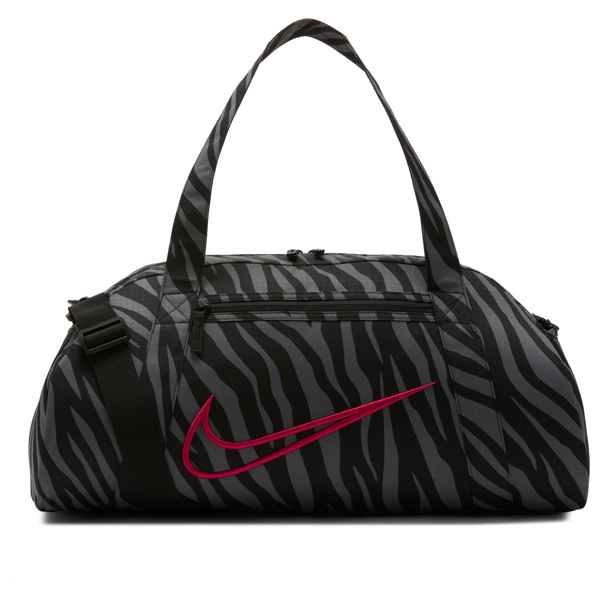 NIKE Sportinis krepšys juoda / pilka / rožinė