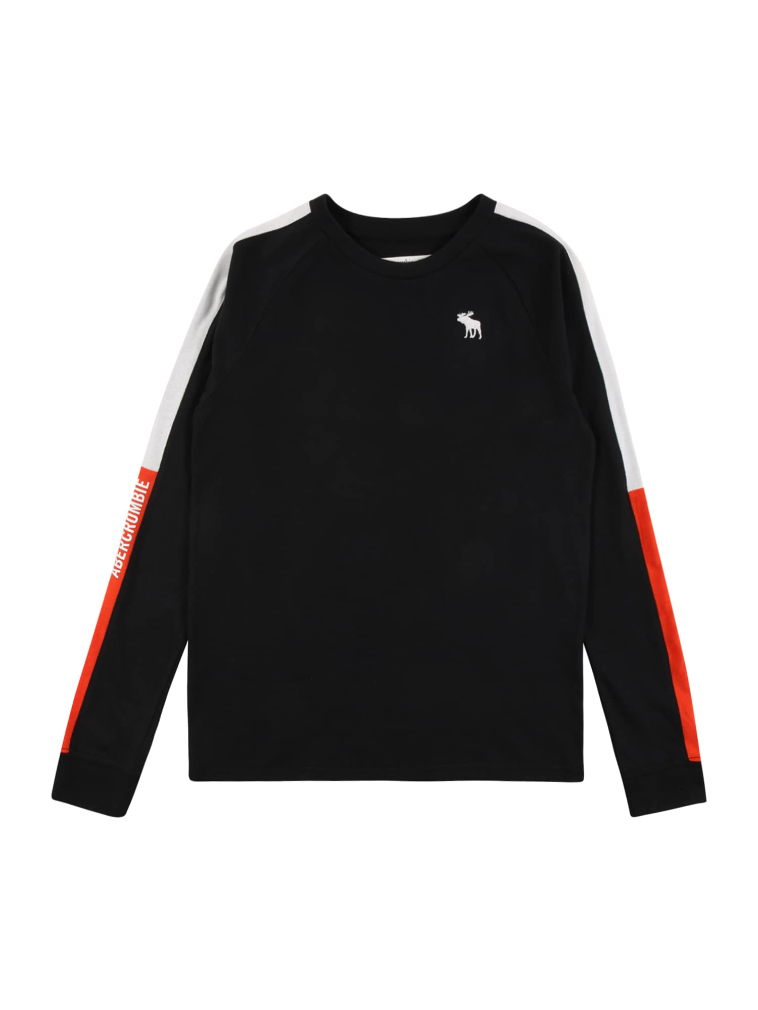 Abercrombie & Fitch Marškinėliai juoda / balta / oranžinė