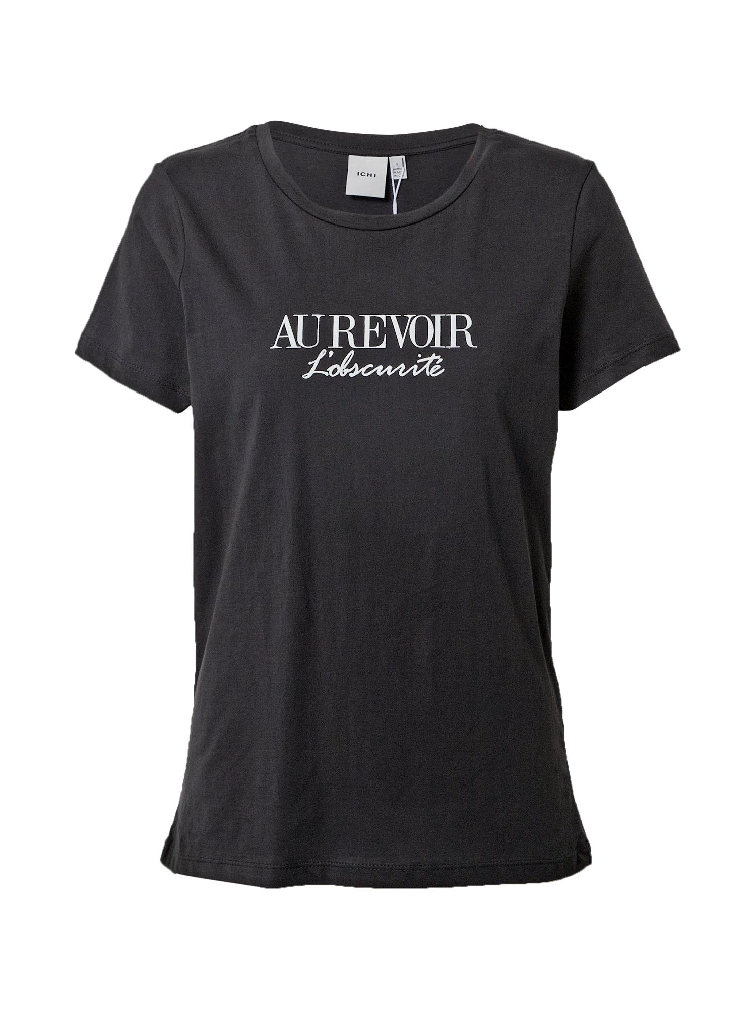 ICHI Marškinėliai juoda / balta