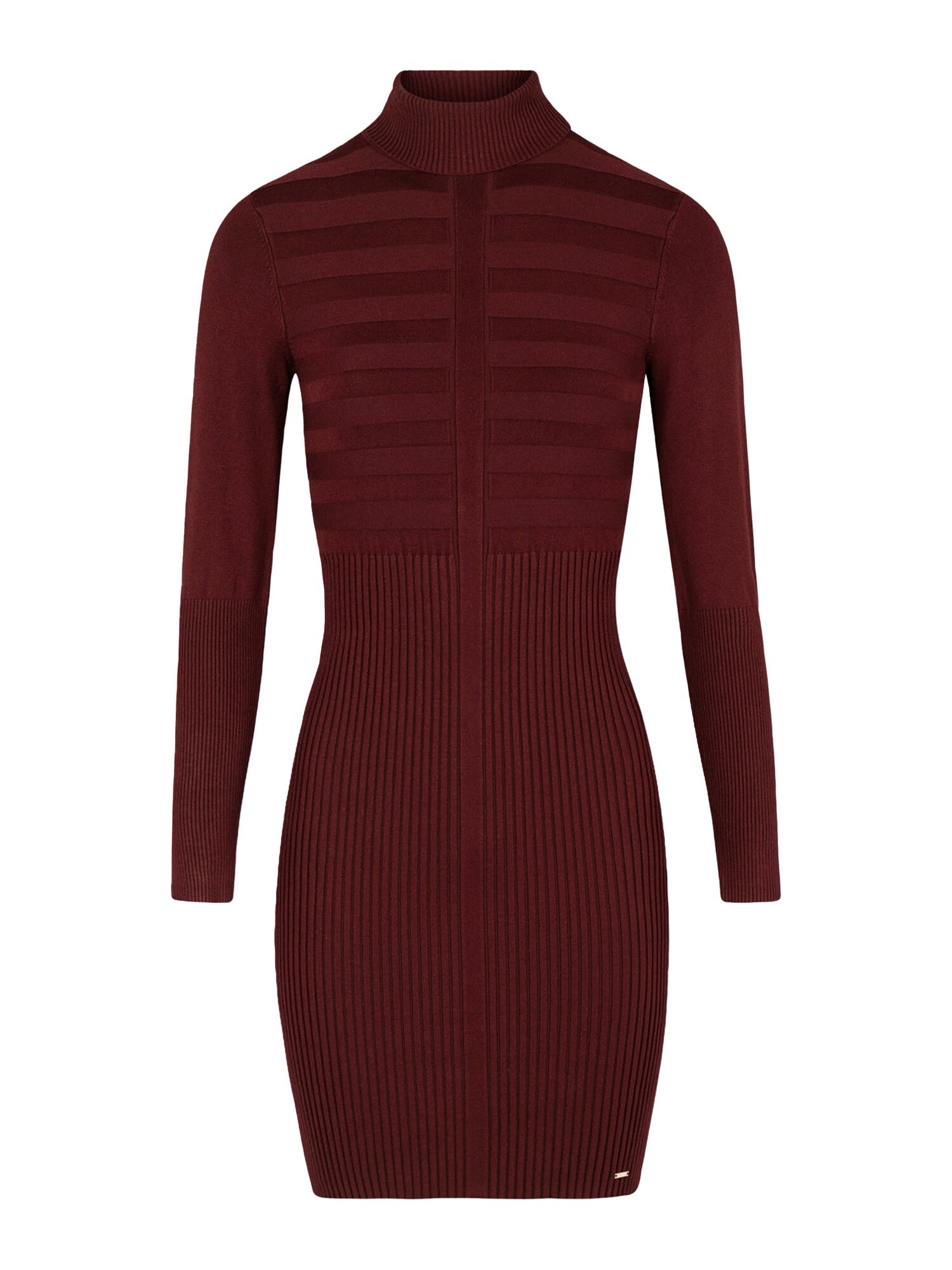 Morgan Úpletové šaty  vínově červená