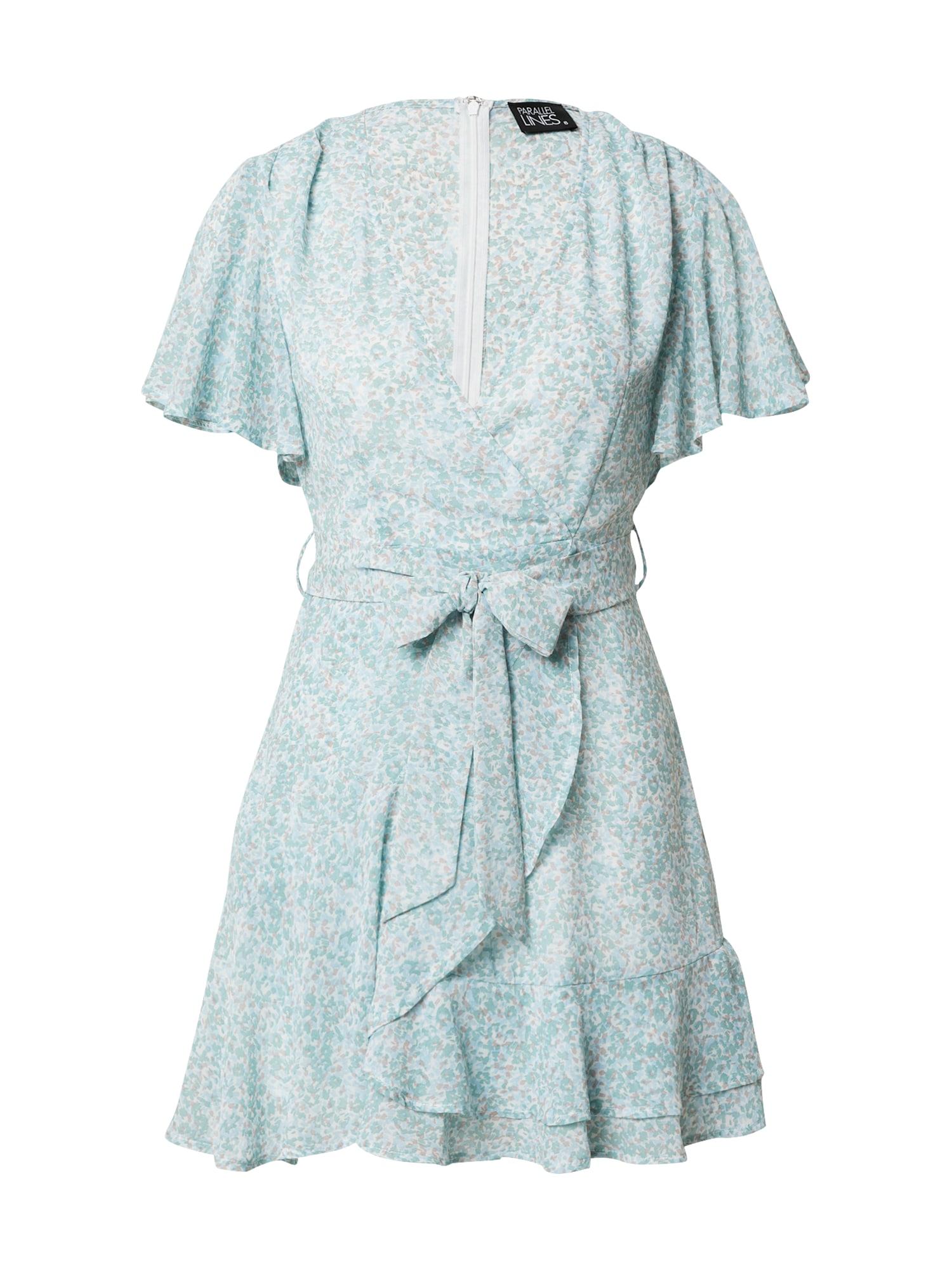 Parallel Lines Vasarinė suknelė balta / nefrito spalva / kupranugario