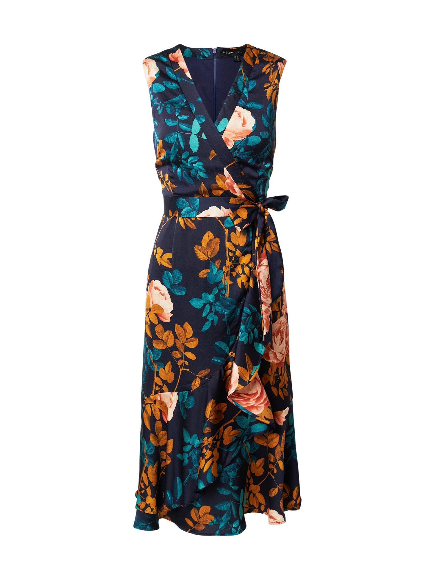 Mela London Suknelė tamsiai mėlyna / mišrios spalvos