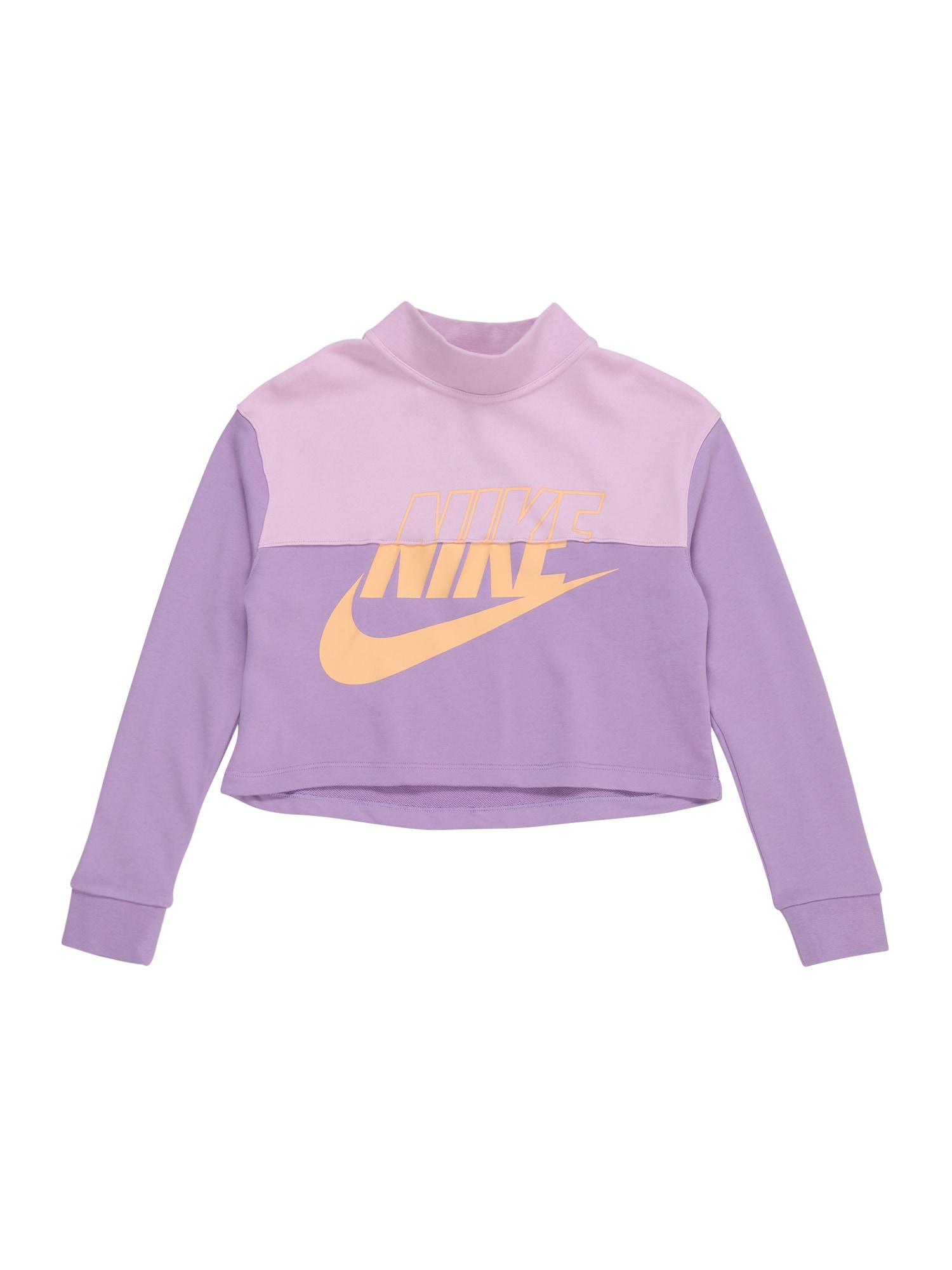 Nike Sportswear Mikina  růžová / fialová / pastelově žlutá