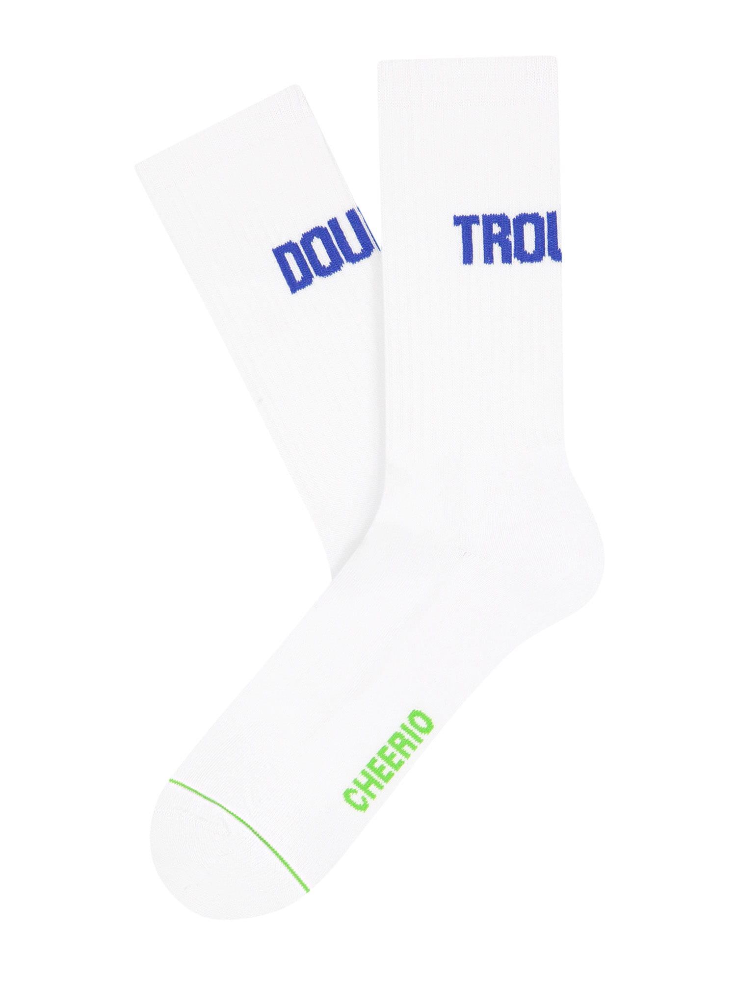 CHEERIO* Kojinės balta / mėlyna / žalia