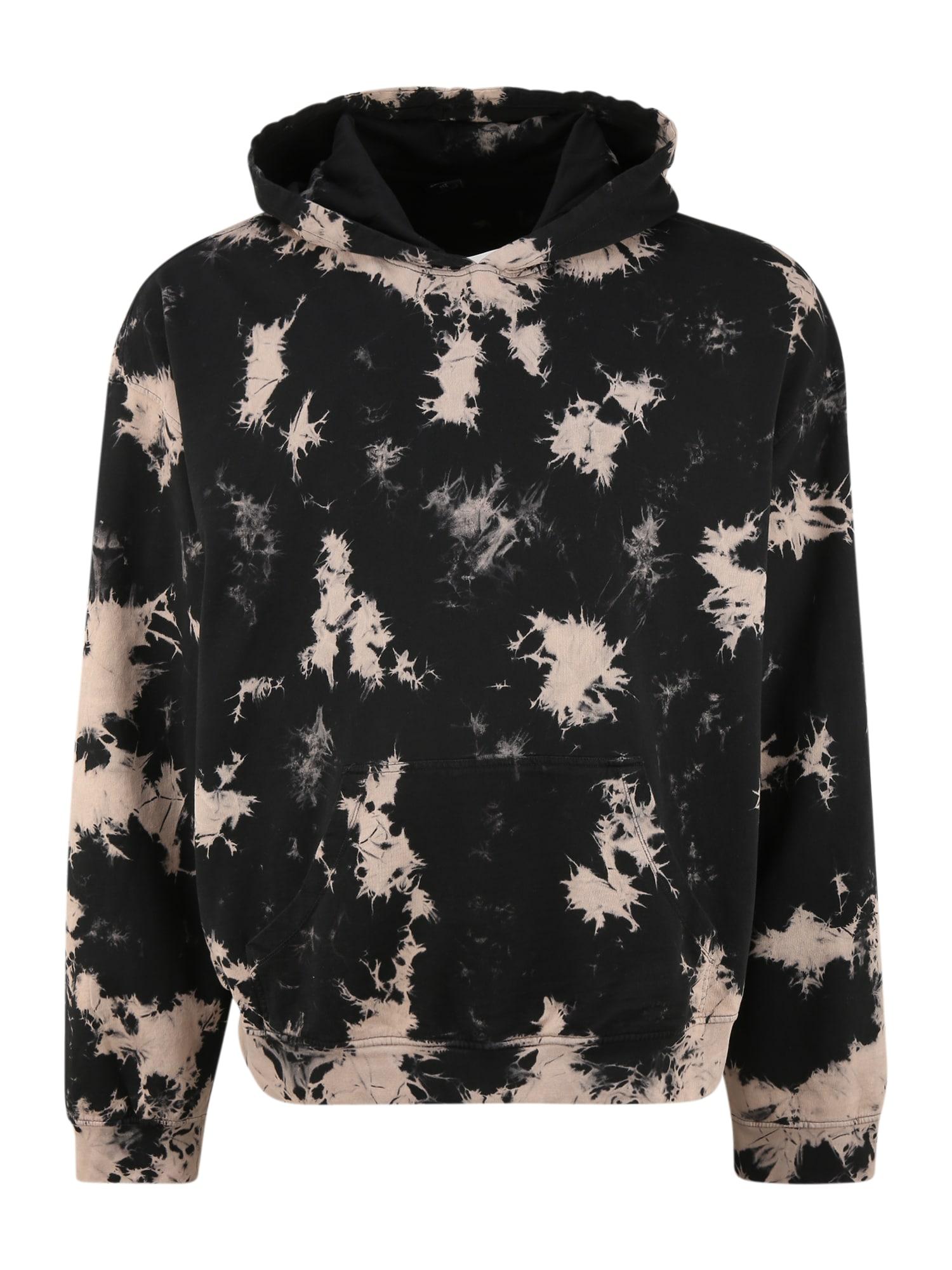 Urban Classics Plus Size Megztinis be užsegimo juoda / smėlio spalva