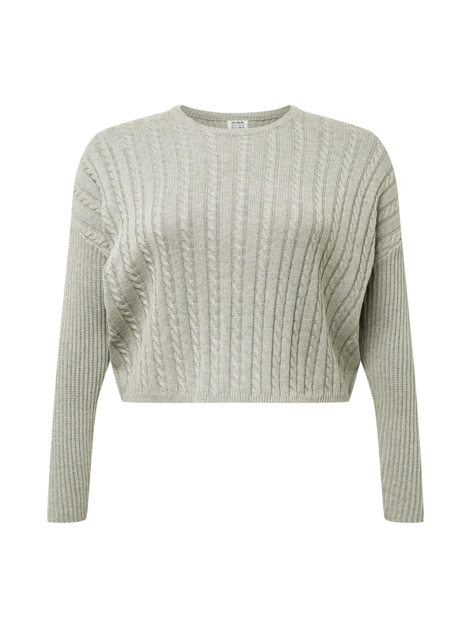 Cotton On Curve Megztinis 'Riley' sidabro pilka