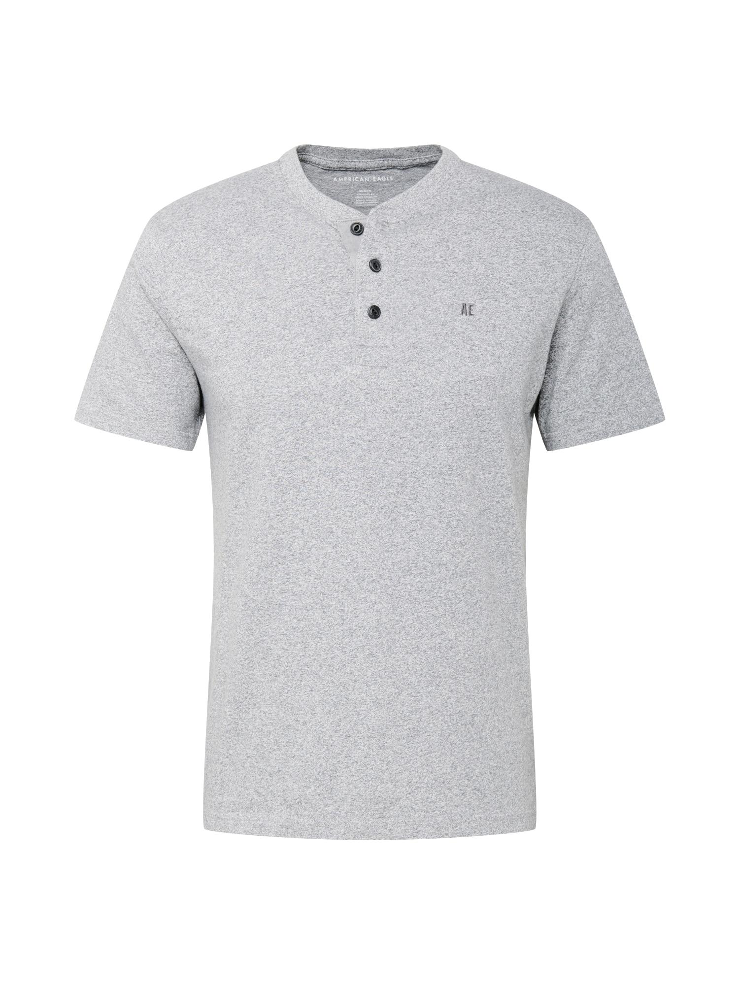 American Eagle Marškinėliai 'BUTLER' margai pilka