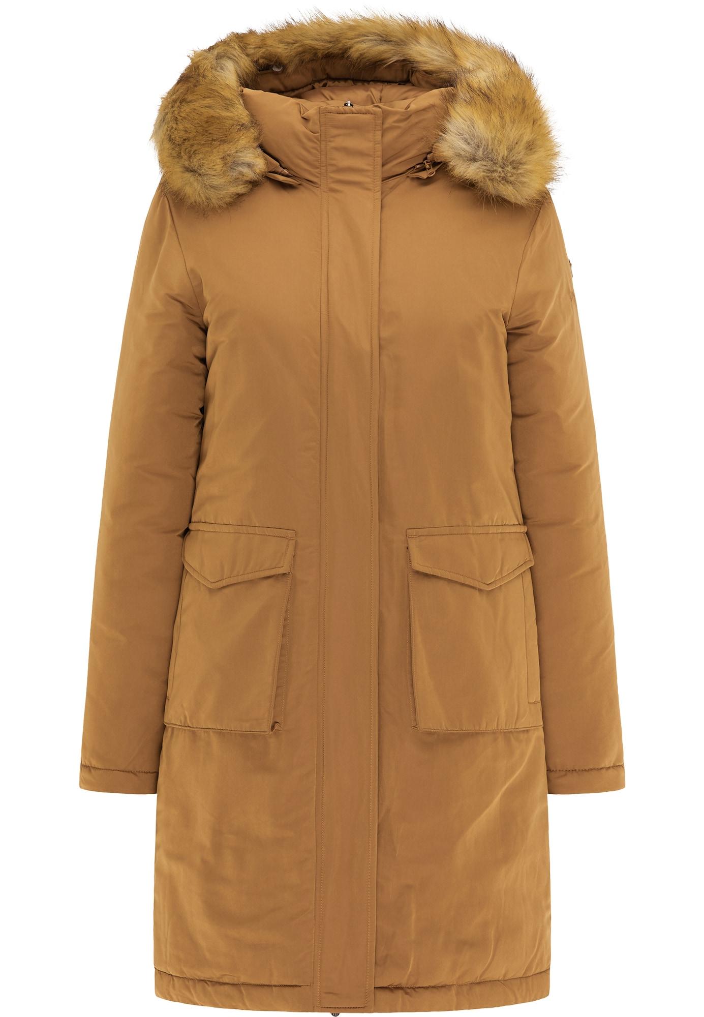 DreiMaster Klassik Žieminis paltas tamsi smėlio