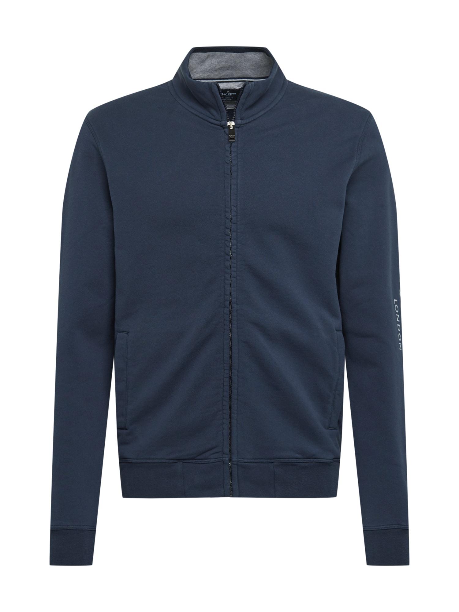 Hackett London Džemperis tamsiai mėlyna / balta