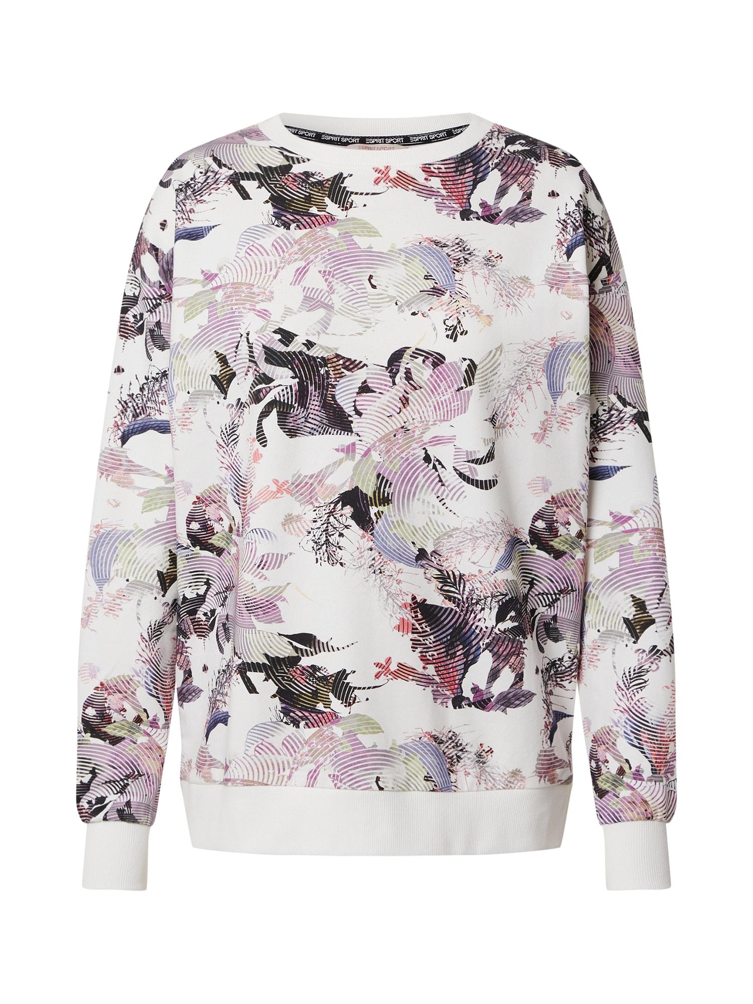 ESPRIT SPORT Sportinio tipo megztinis balta / mišrios spalvos