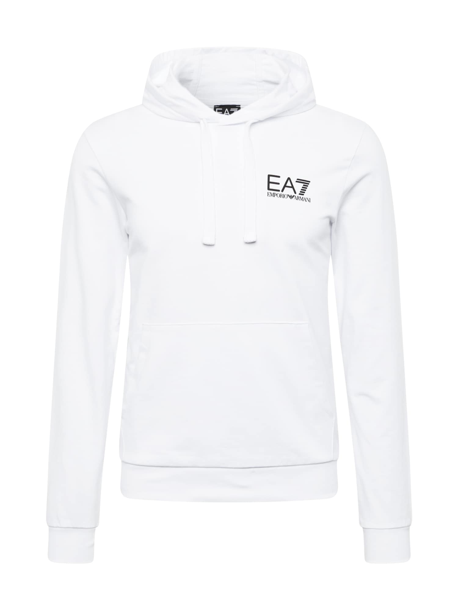 EA7 Emporio Armani Megztinis be užsegimo balta / juoda