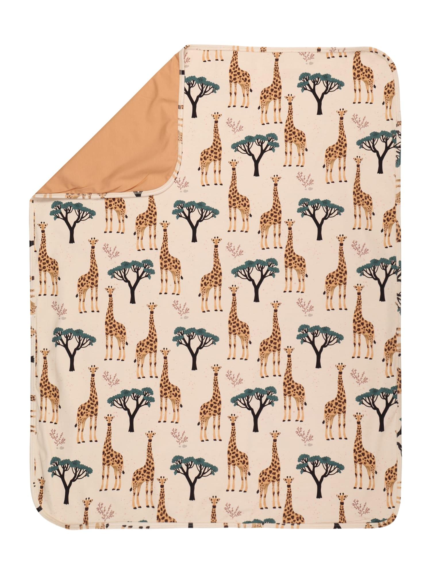 Walkiddy Kūdikio antklodė kremo / pastelinė mėlyna / pastelinė oranžinė / tamsiai ruda / rožinė