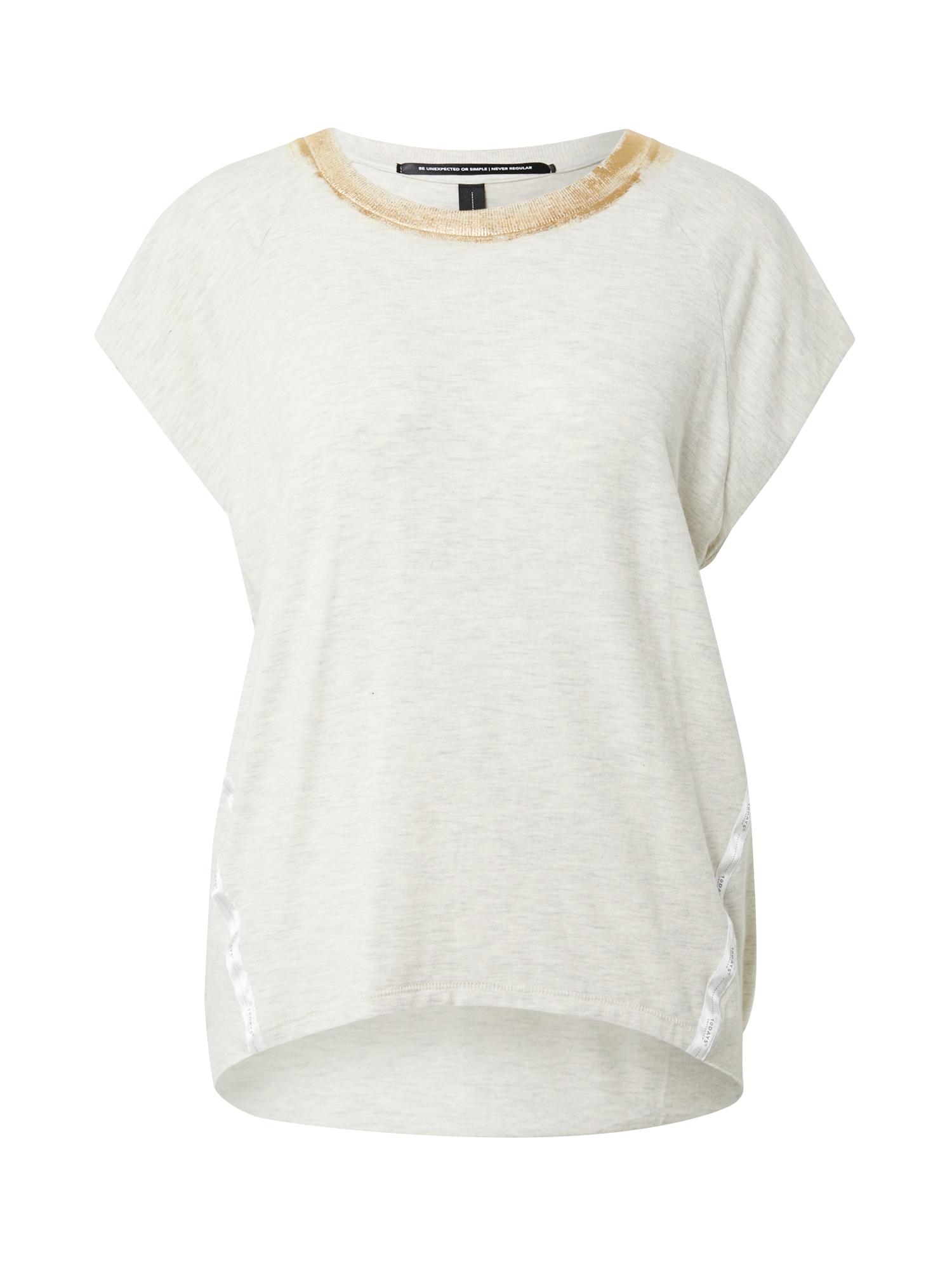 10Days Marškinėliai margai balta / auksas / balta
