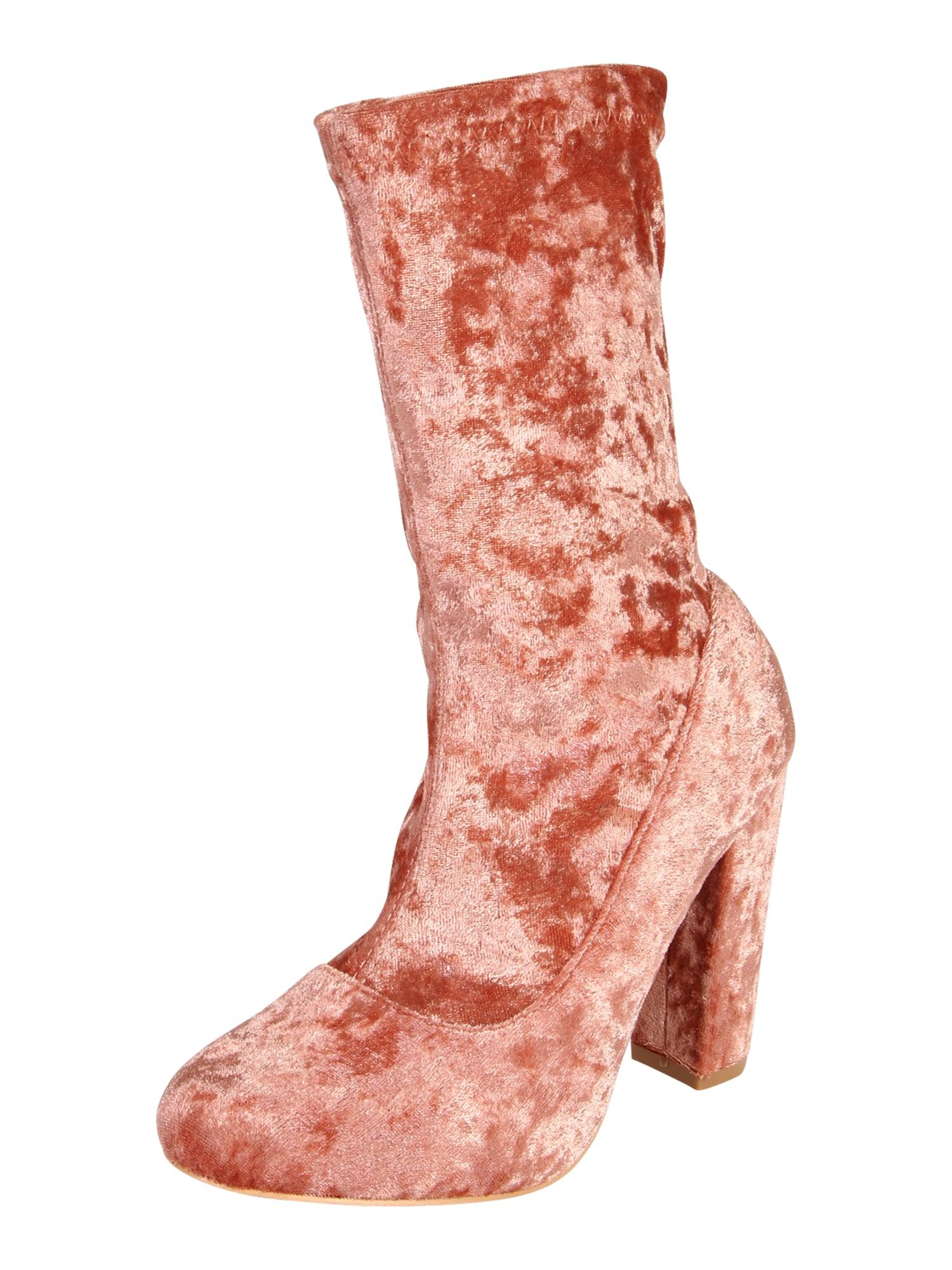 GLAMOROUS Auliniai batai su kulniuku 'FW3240' rožinio aukso spalva