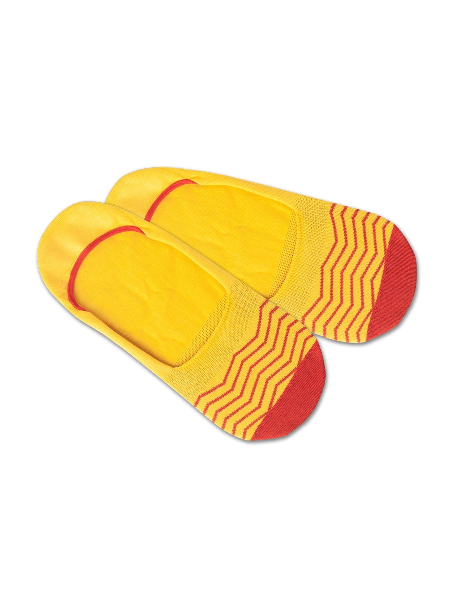 DillySocks Ponožky 'Hidden Square Lights'  červená / žlutá