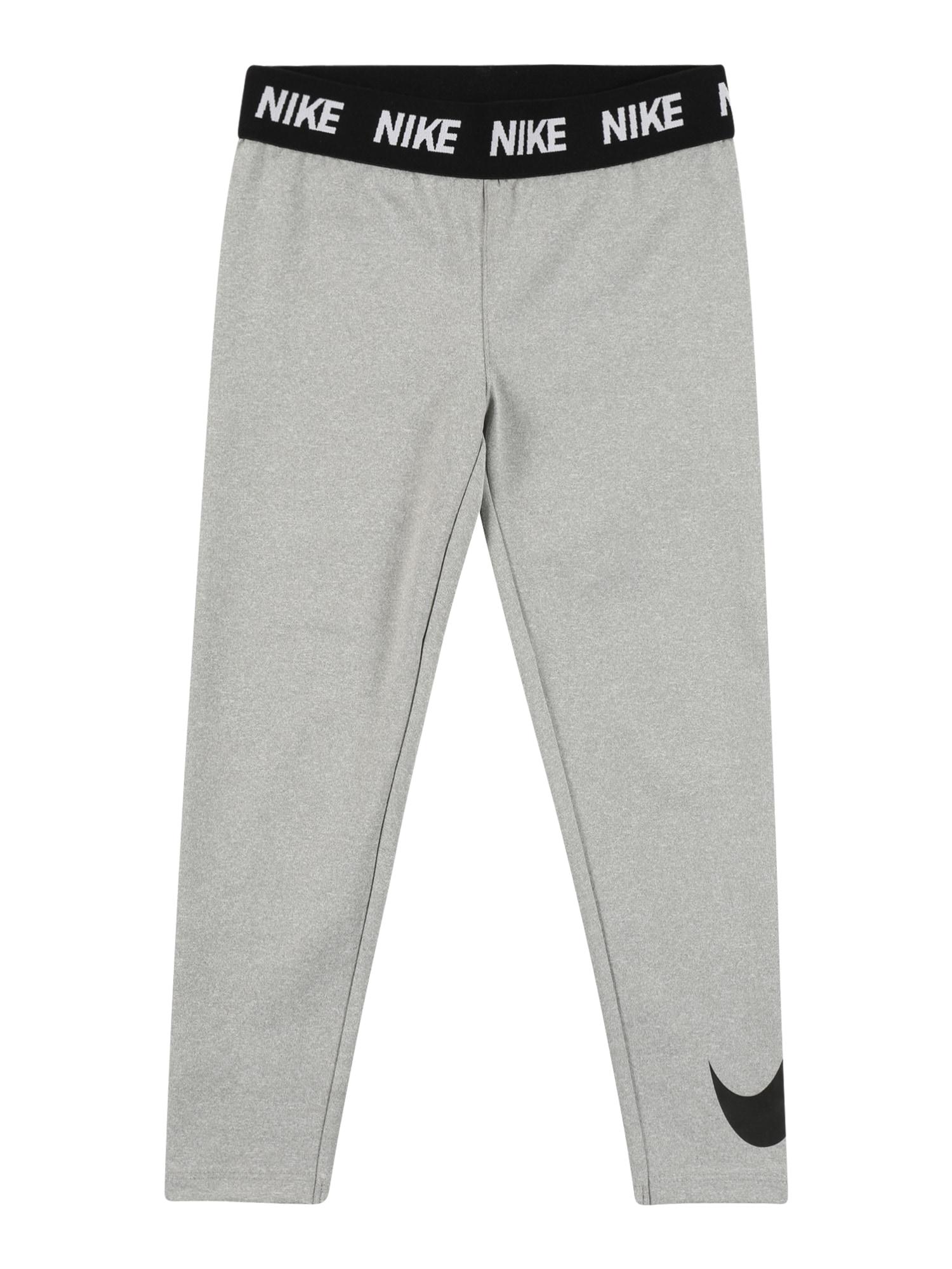NIKE Sportinės kelnės juoda / pilka